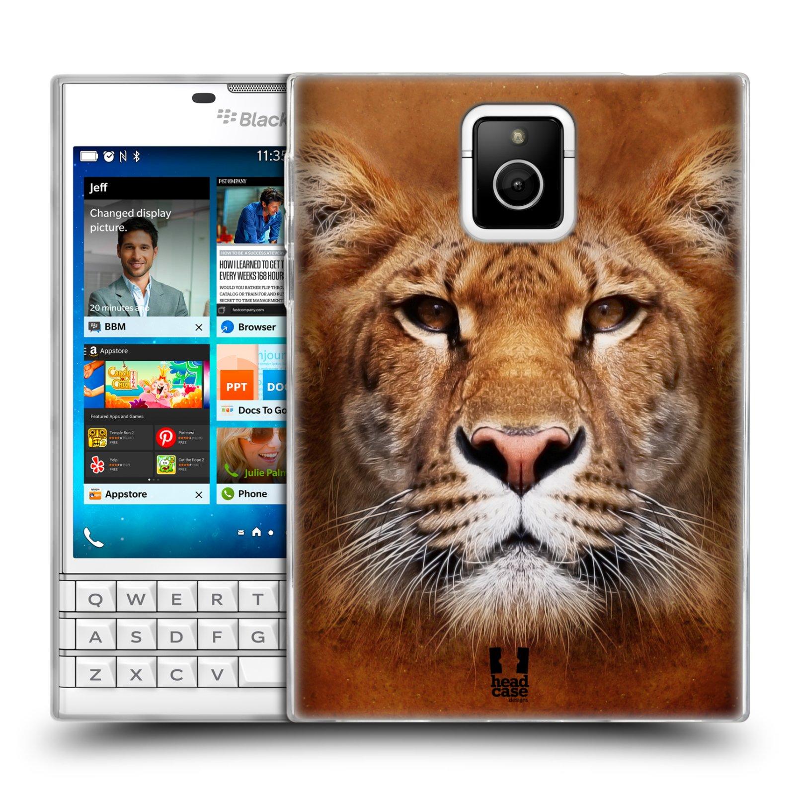 HEAD CASE silikonový obal na mobil Blackberry PASSPORT vzor Zvířecí tváře Sibiřský tygr