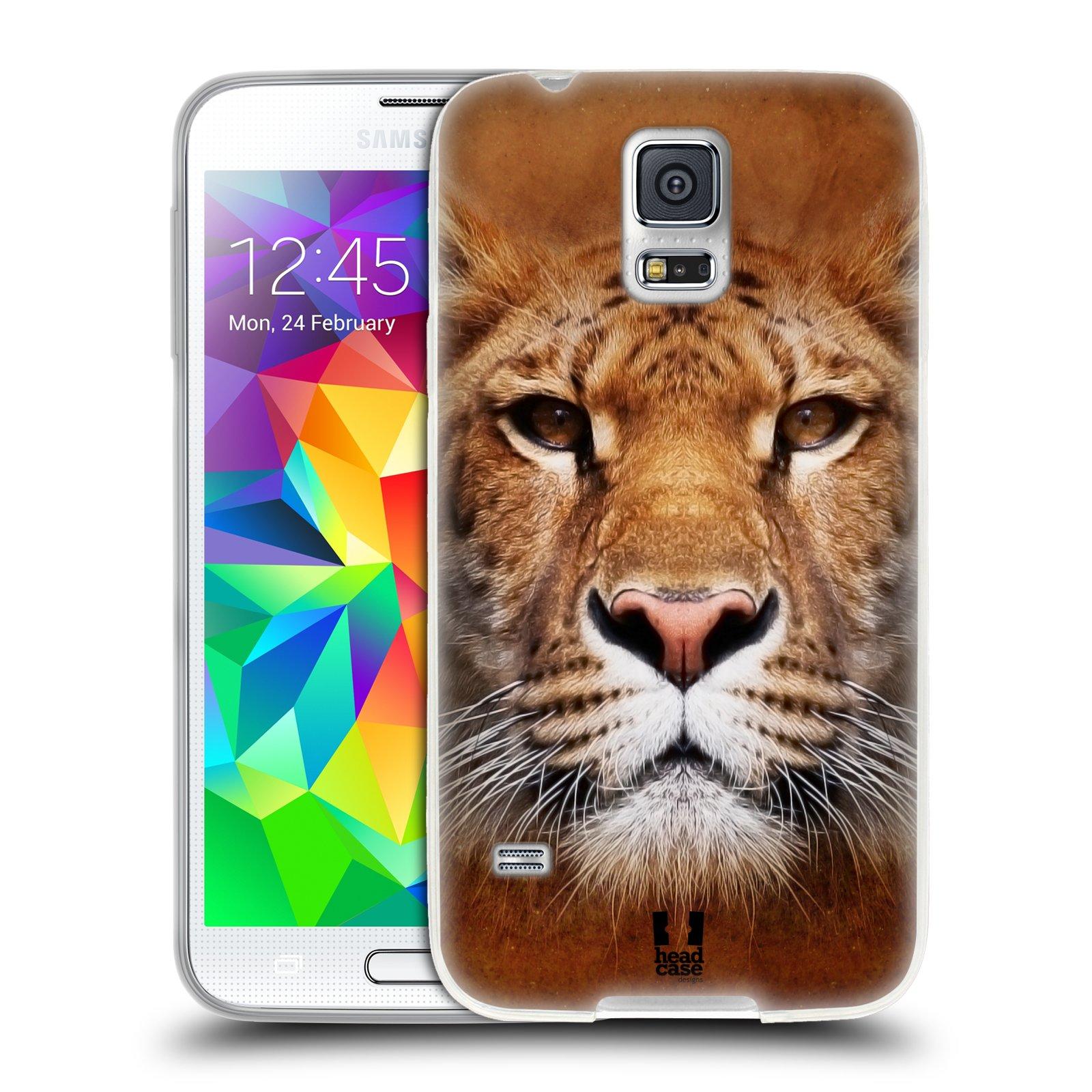 HEAD CASE silikonový obal na mobil Samsung Galaxy S5/S5 NEO vzor Zvířecí tváře Sibiřský tygr