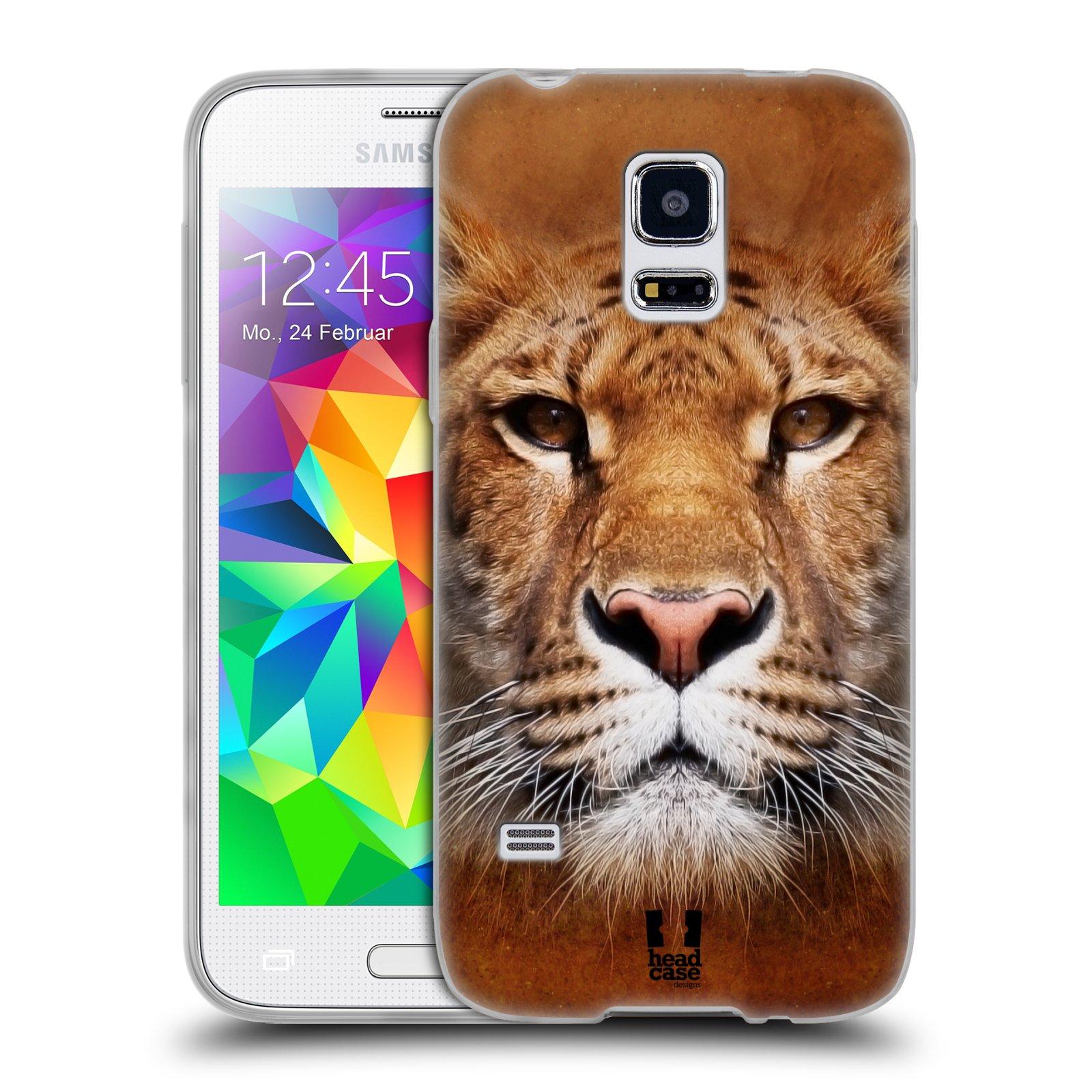 HEAD CASE silikonový obal na mobil Samsung Galaxy S5 MINI vzor Zvířecí tváře Sibiřský tygr