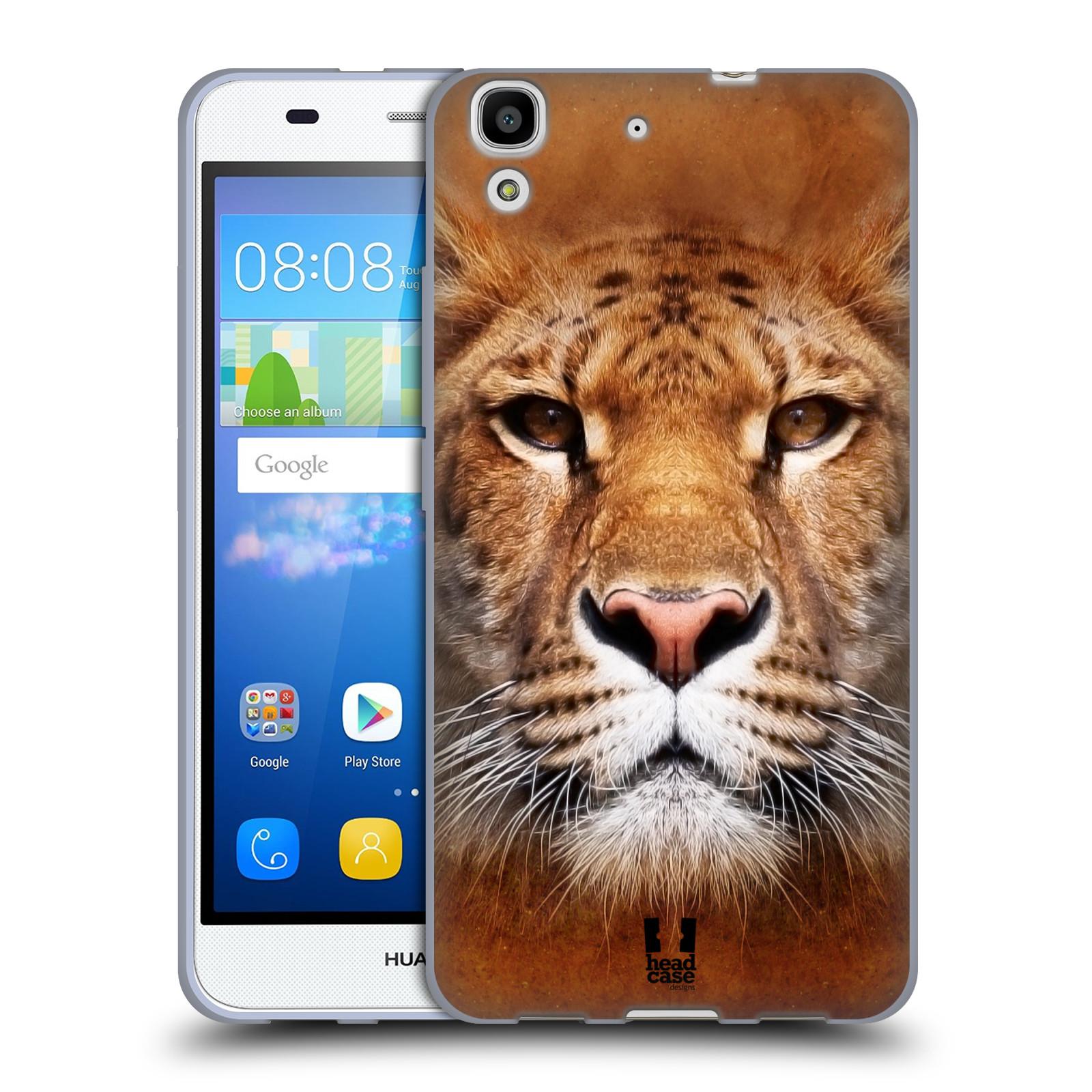 HEAD CASE silikonový obal na mobil HUAWEI Y6 vzor Zvířecí tváře Sibiřský tygr