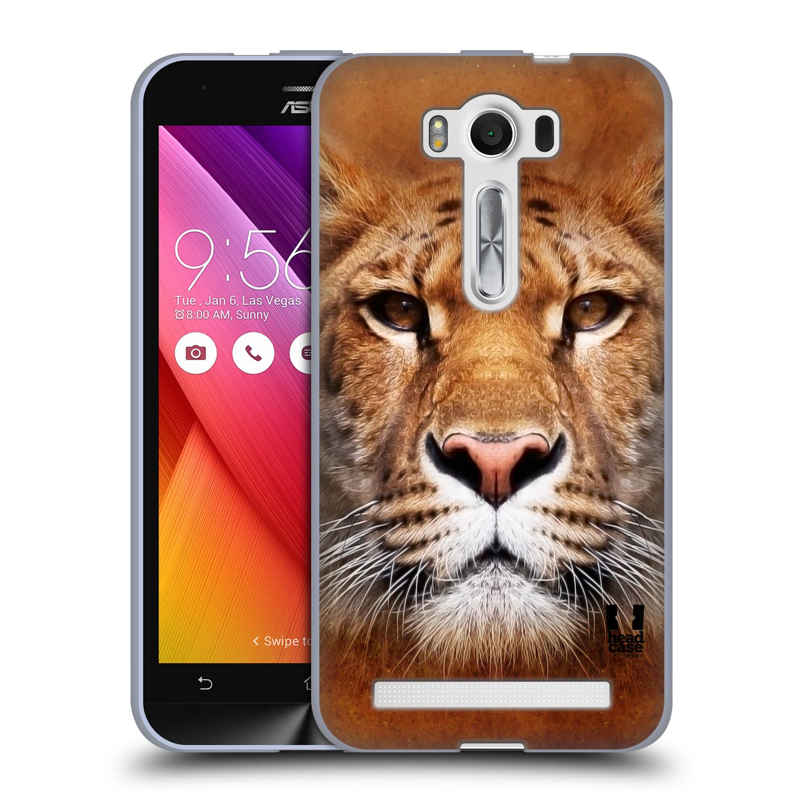 """HEAD CASE silikonový obal na mobil Asus Zenfone 2 LASER (ZE500KL s 5"""" displejem) vzor Zvířecí tváře Sibiřský tygr"""