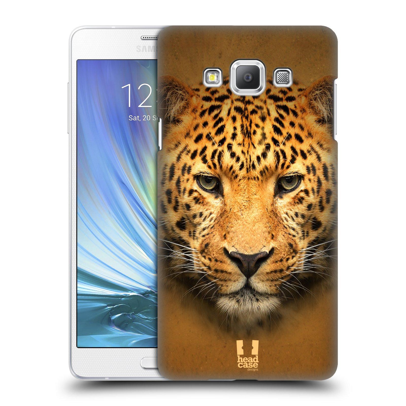 HEAD CASE plastový obal na mobil SAMSUNG GALAXY A7 vzor Zvířecí tváře 2 leopard