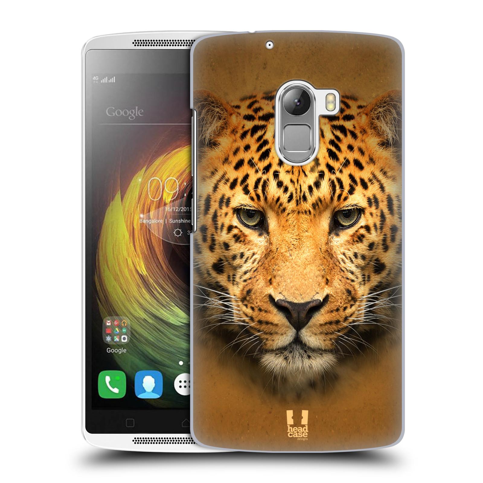 HEAD CASE pevný plastový obal na mobil LENOVO A7010 / A7010 DUAL / K4 Note / Vibe X3 lite vzor Zvířecí tváře 2 leopard