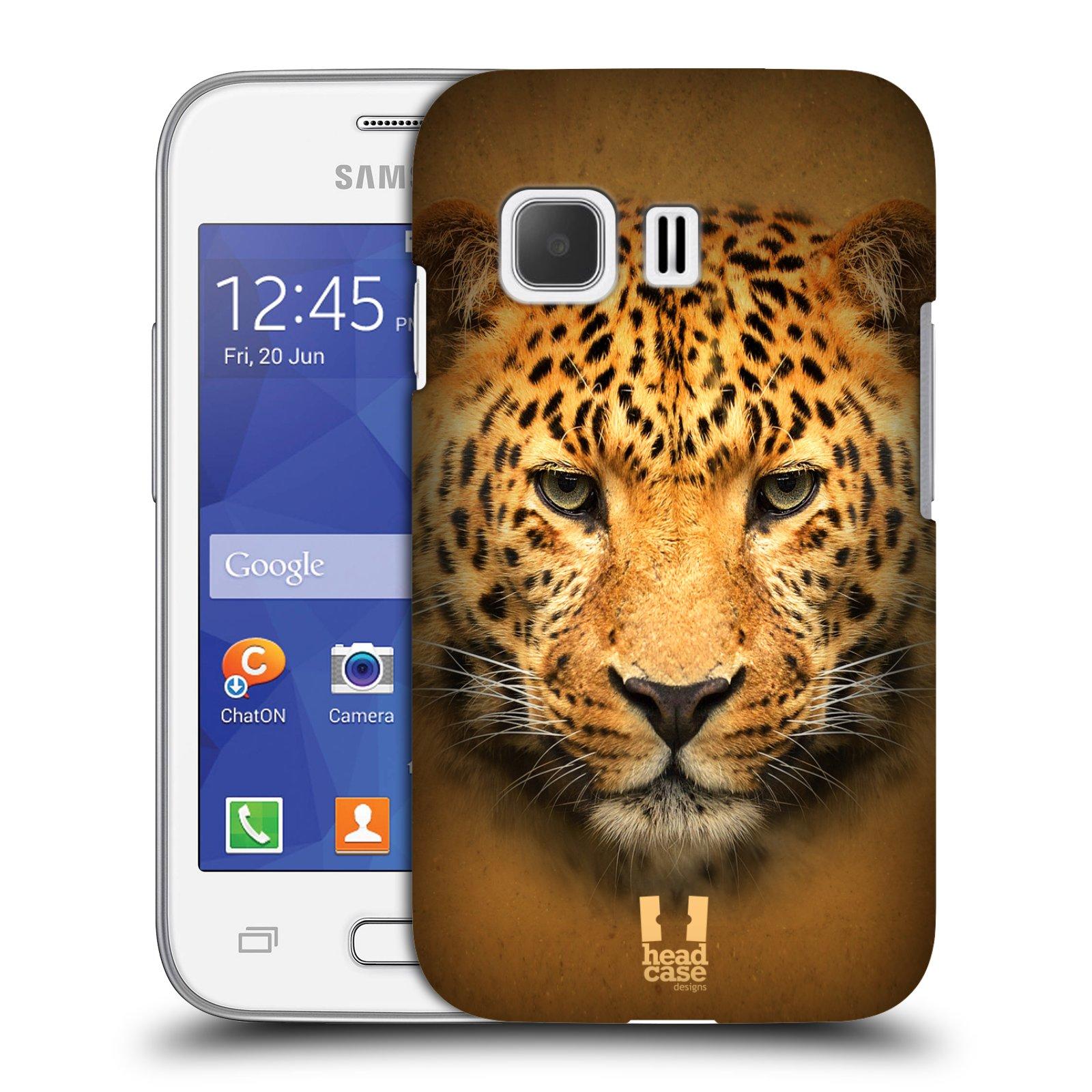 HEAD CASE plastový obal na mobil SAMSUNG Galaxy Young 2 (G130) vzor Zvířecí tváře 2 leopard