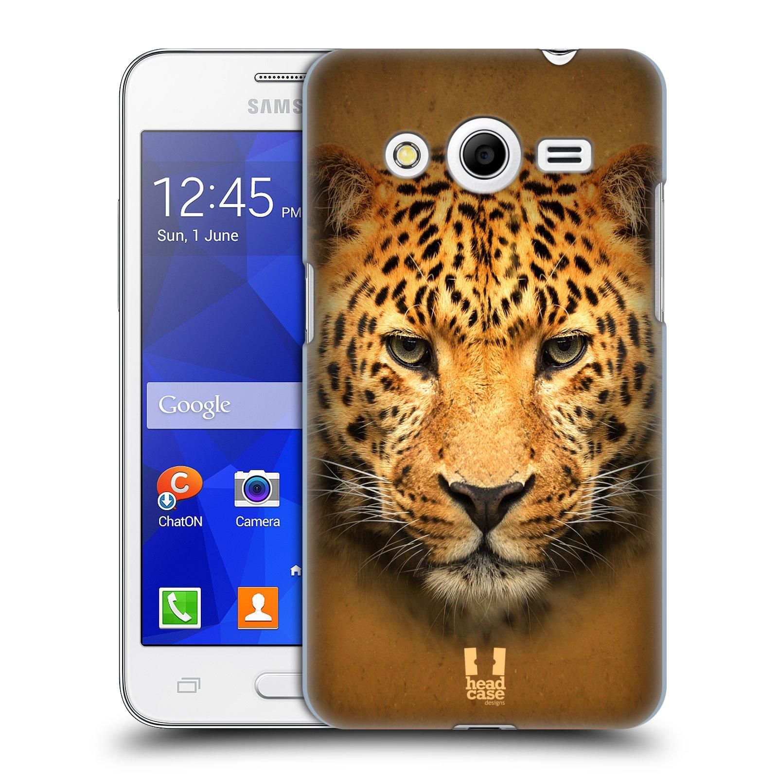 HEAD CASE plastový obal na mobil SAMSUNG GALAXY Core 2 (G355H) vzor Zvířecí tváře 2 leopard