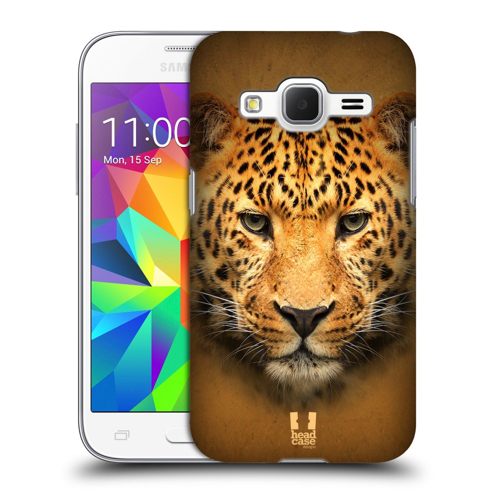 HEAD CASE plastový obal na mobil SAMSUNG GALAXY Core Prime (Core Prime VE) vzor Zvířecí tváře 2 leopard