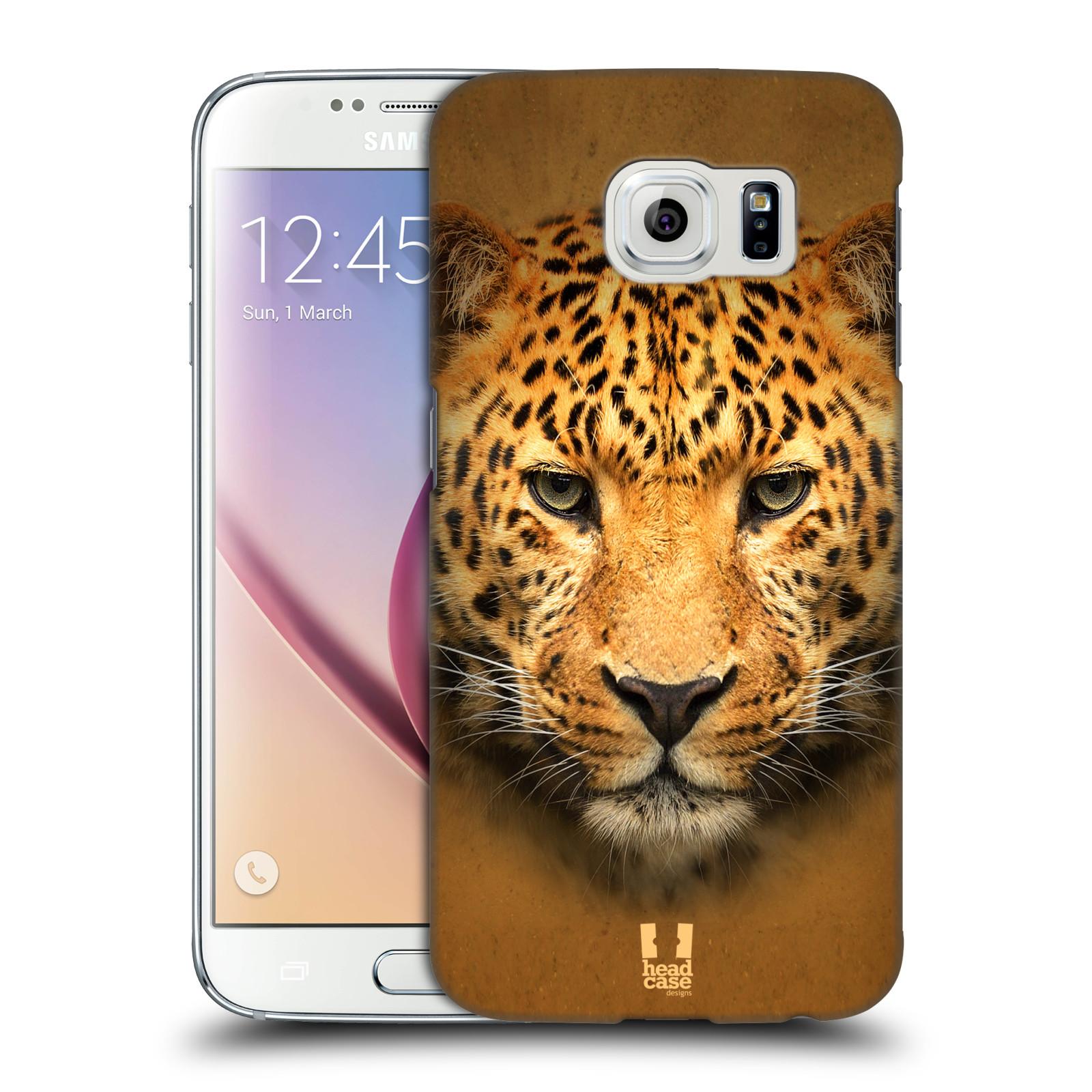 HEAD CASE plastový obal na mobil SAMSUNG Galaxy S6 (G9200, G920F) vzor Zvířecí tváře 2 leopard