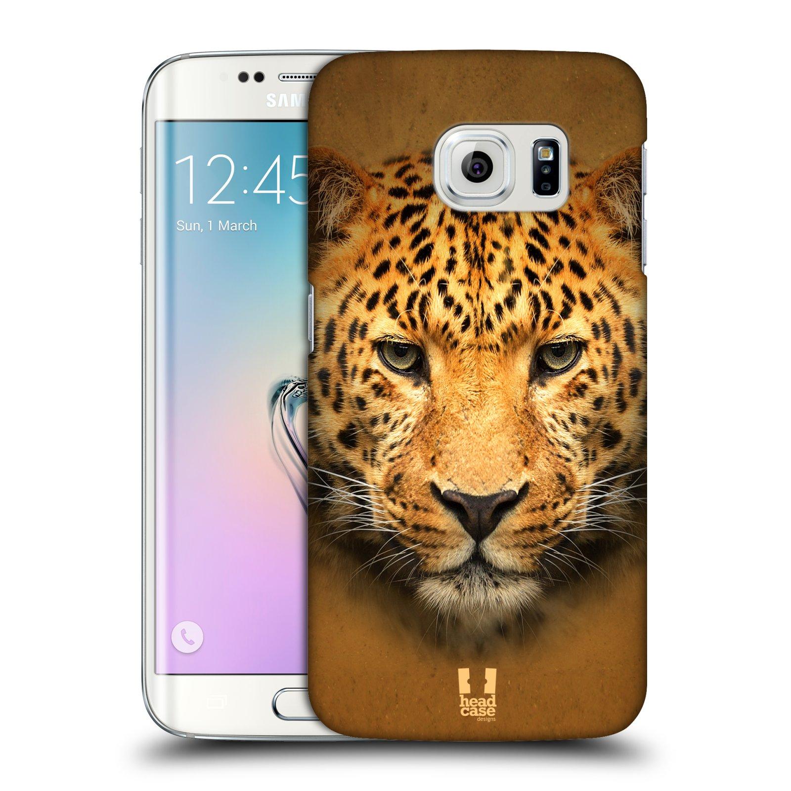 HEAD CASE plastový obal na mobil SAMSUNG Galaxy S6 EDGE (G9250, G925, G925F) vzor Zvířecí tváře 2 leopard