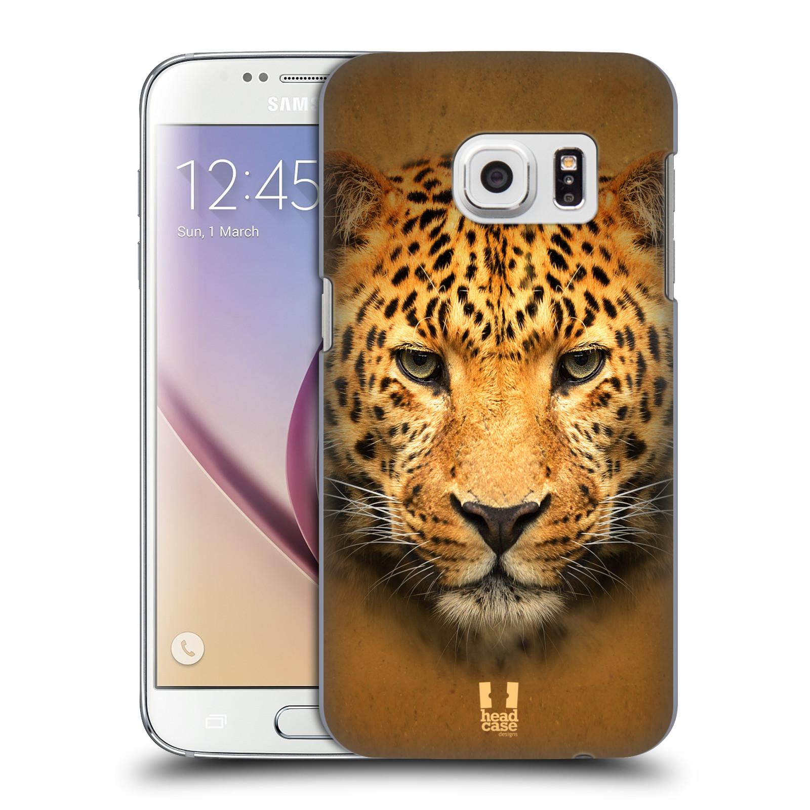 HEAD CASE plastový obal na mobil SAMSUNG GALAXY S7 vzor Zvířecí tváře 2 leopard
