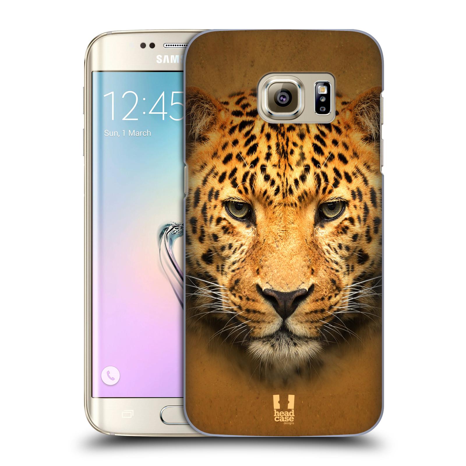 HEAD CASE plastový obal na mobil SAMSUNG GALAXY S7 EDGE vzor Zvířecí tváře 2 leopard