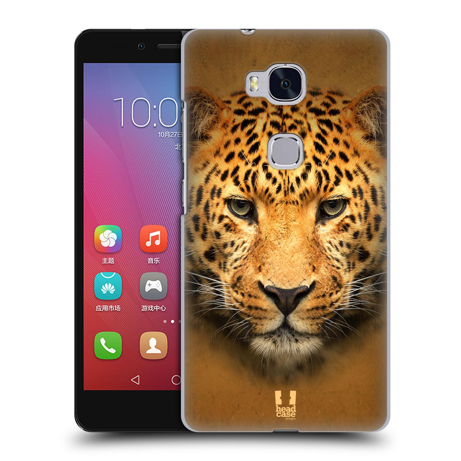 HEAD CASE pevný plastový obal na mobil HUAWEI HONOR 5X vzor Zvířecí tváře 2 leopard