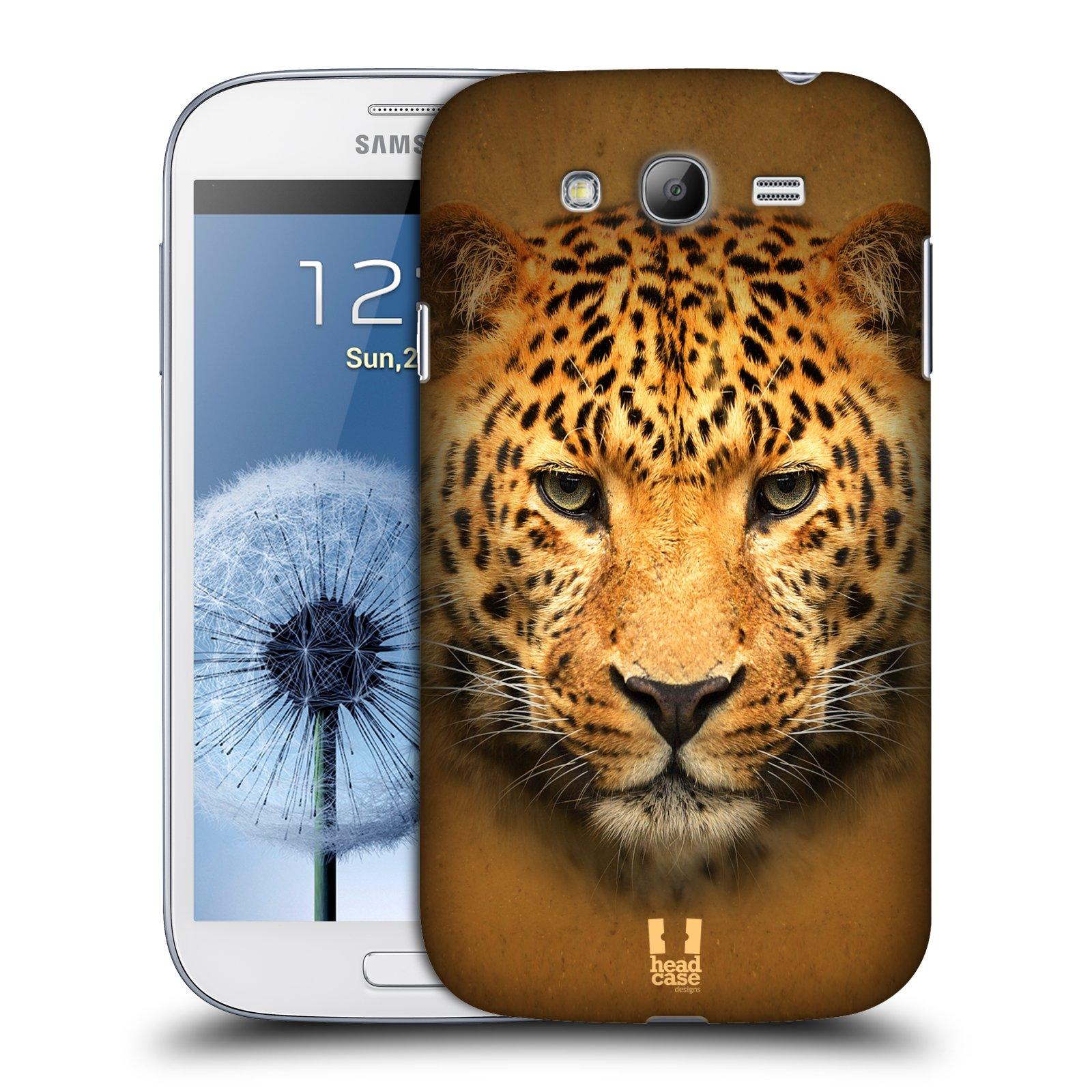 HEAD CASE plastový obal na mobil SAMSUNG GALAXY Grand i9080 vzor Zvířecí tváře 2 leopard