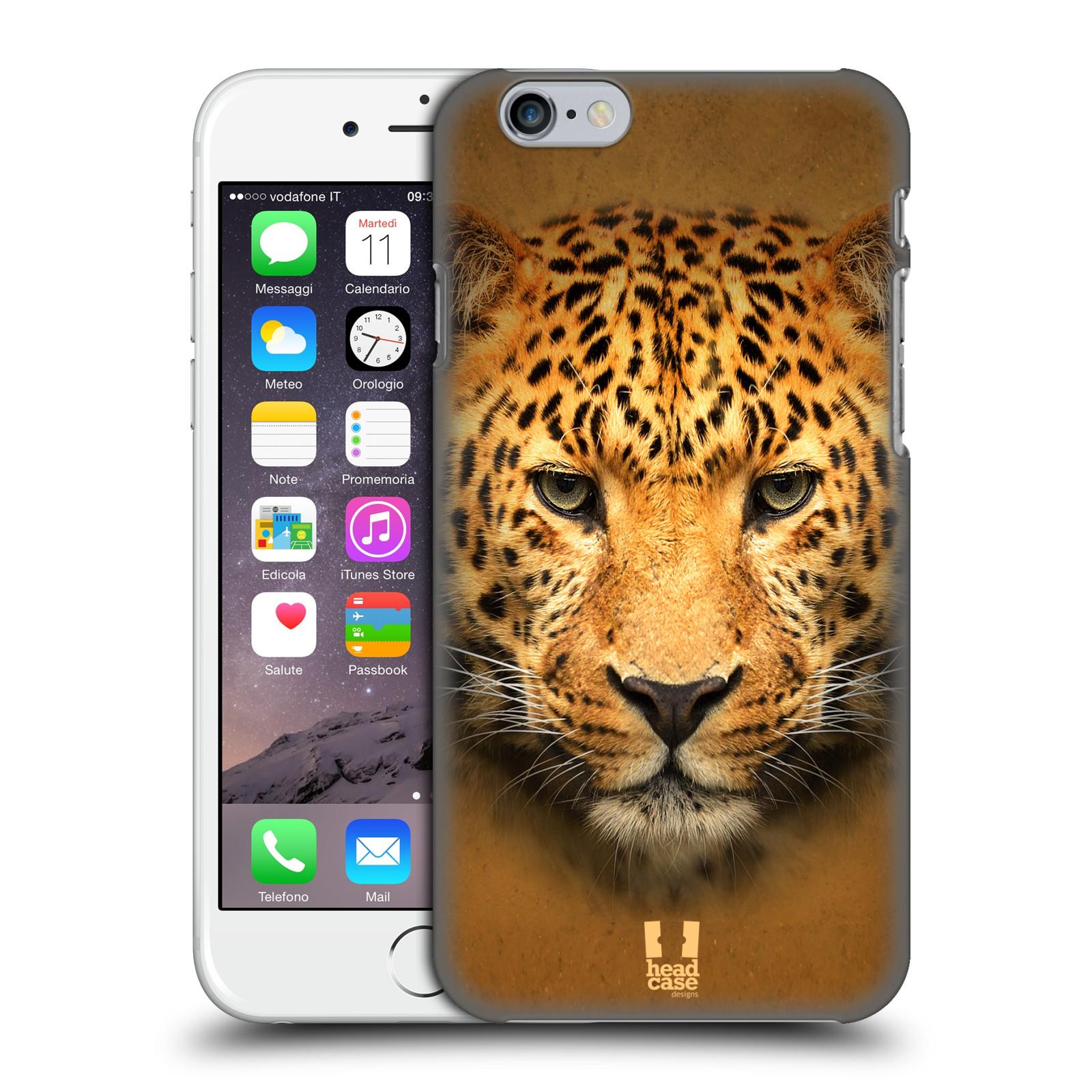 Plastové pouzdro pro mobil Apple Iphone 6/6S vzor Zvířecí tváře 2 leopard