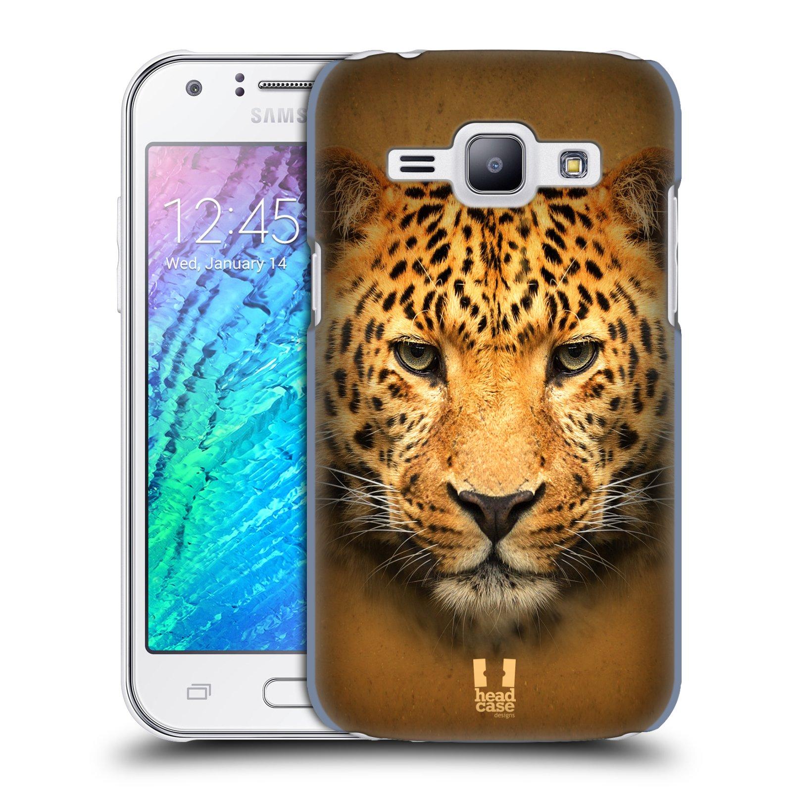 HEAD CASE plastový obal na mobil SAMSUNG Galaxy J1, J100 vzor Zvířecí tváře 2 leopard