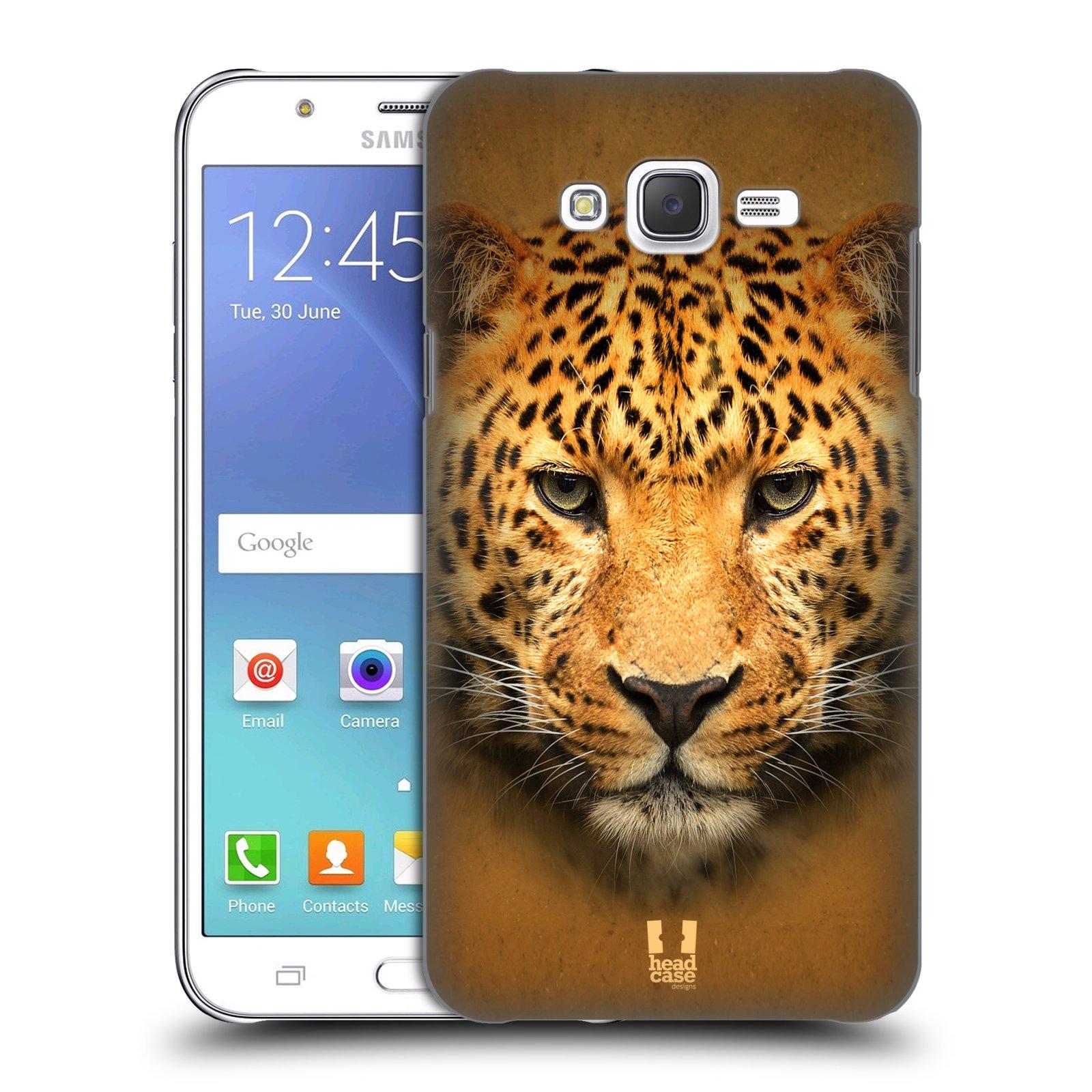 HEAD CASE plastový obal na mobil SAMSUNG Galaxy J7, J700 vzor Zvířecí tváře 2 leopard