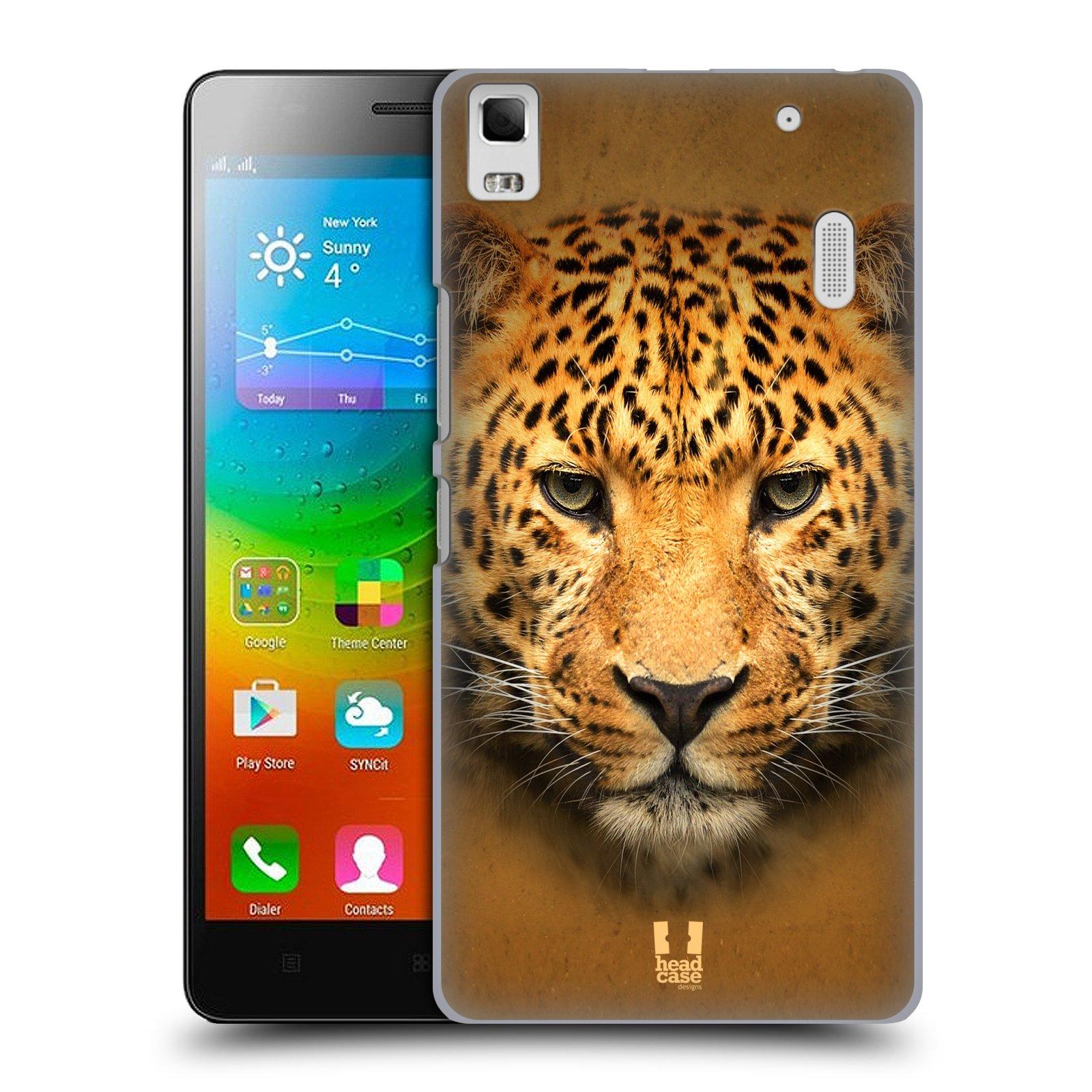 HEAD CASE pevný plastový obal na mobil LENOVO A7000 / A7000 DUAL / K3 NOTE vzor Zvířecí tváře 2 leopard