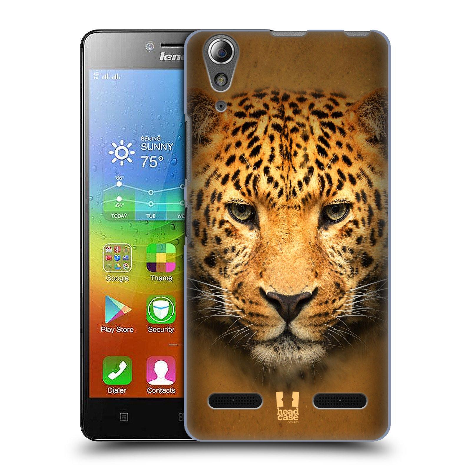 HEAD CASE pevný plastový obal na mobil LENOVO A6000 / A6000 PLUS vzor Zvířecí tváře 2 leopard