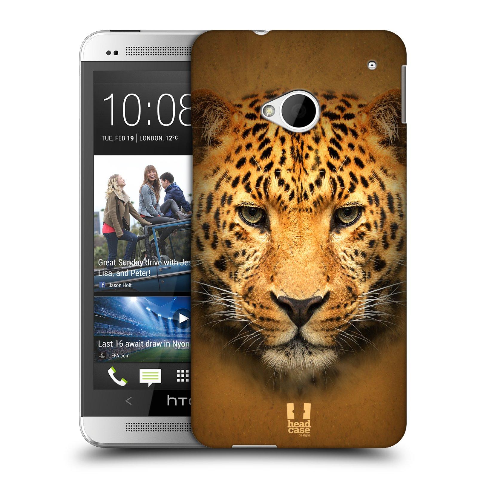 HEAD CASE plastový obal na mobil HTC One (M7) vzor Zvířecí tváře 2 leopard