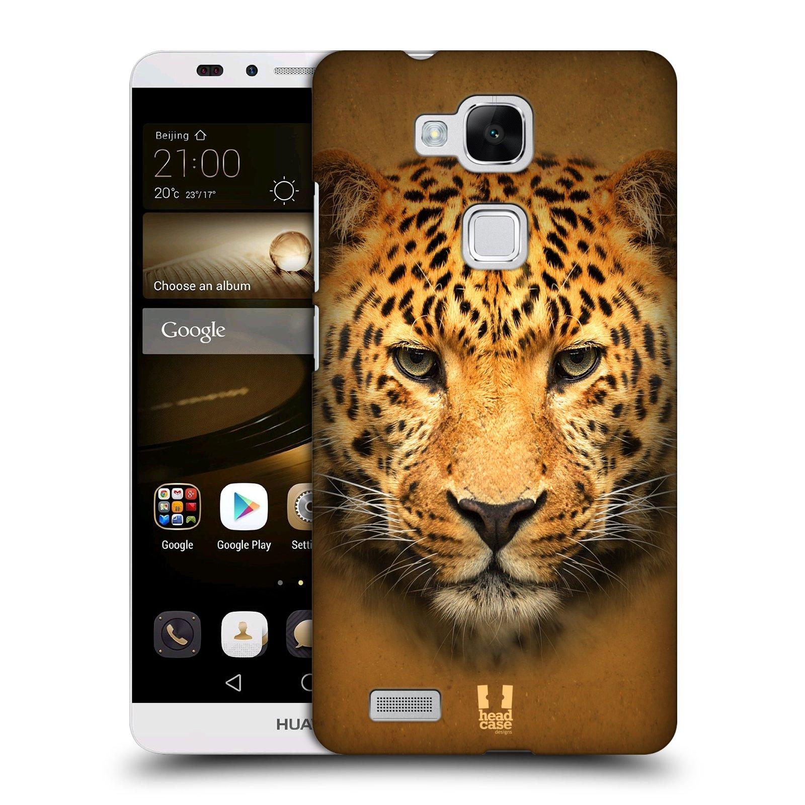 HEAD CASE plastový obal na mobil Huawei Mate 7 vzor Zvířecí tváře 2 leopard