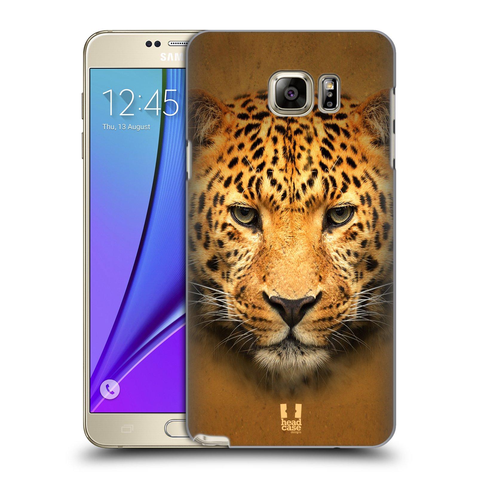 HEAD CASE plastový obal na mobil SAMSUNG Galaxy Note 5 (N920) vzor Zvířecí tváře 2 leopard