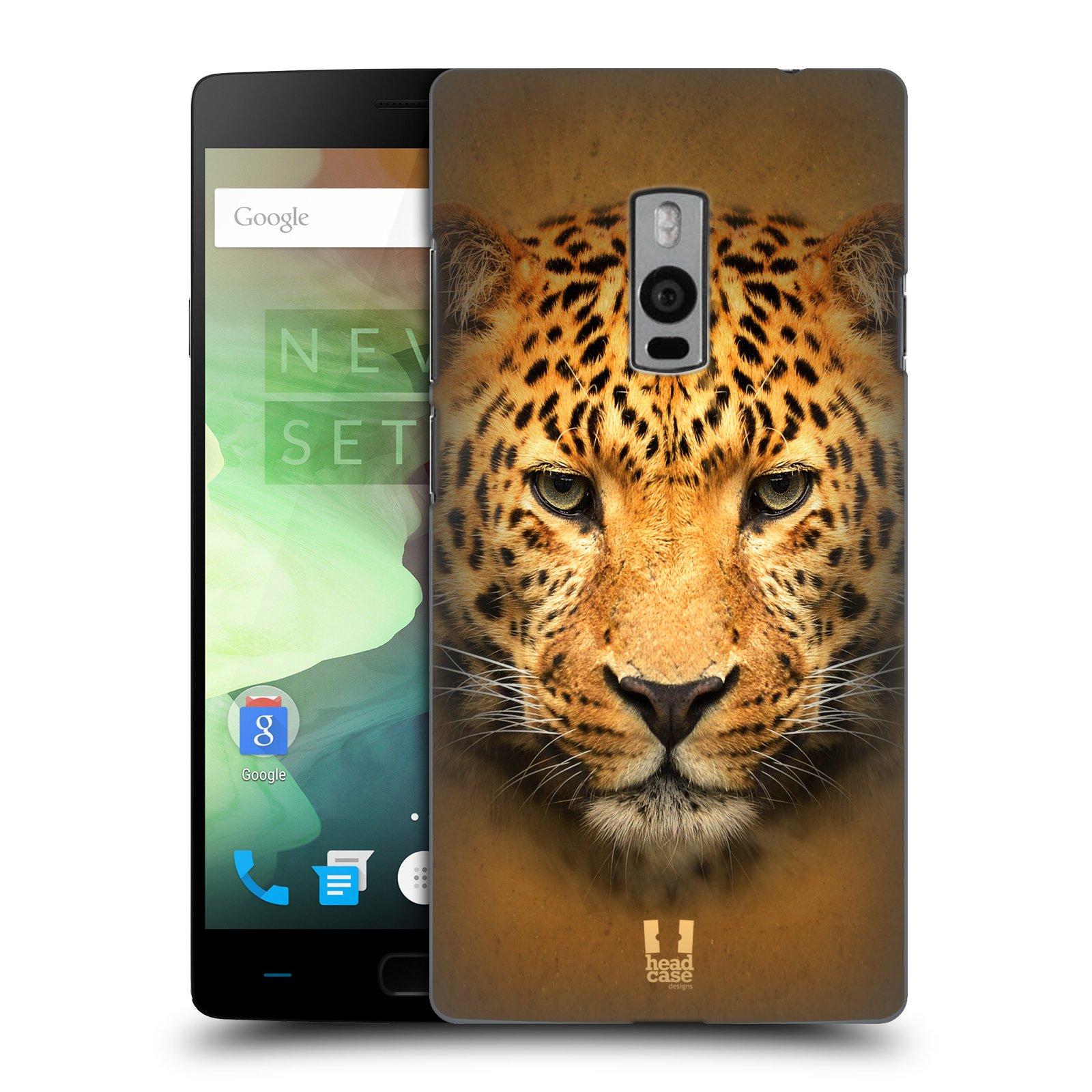 HEAD CASE pevný plastový obal na mobil OnePlus 2  ( TWO ) vzor Zvířecí tváře 2 leopard
