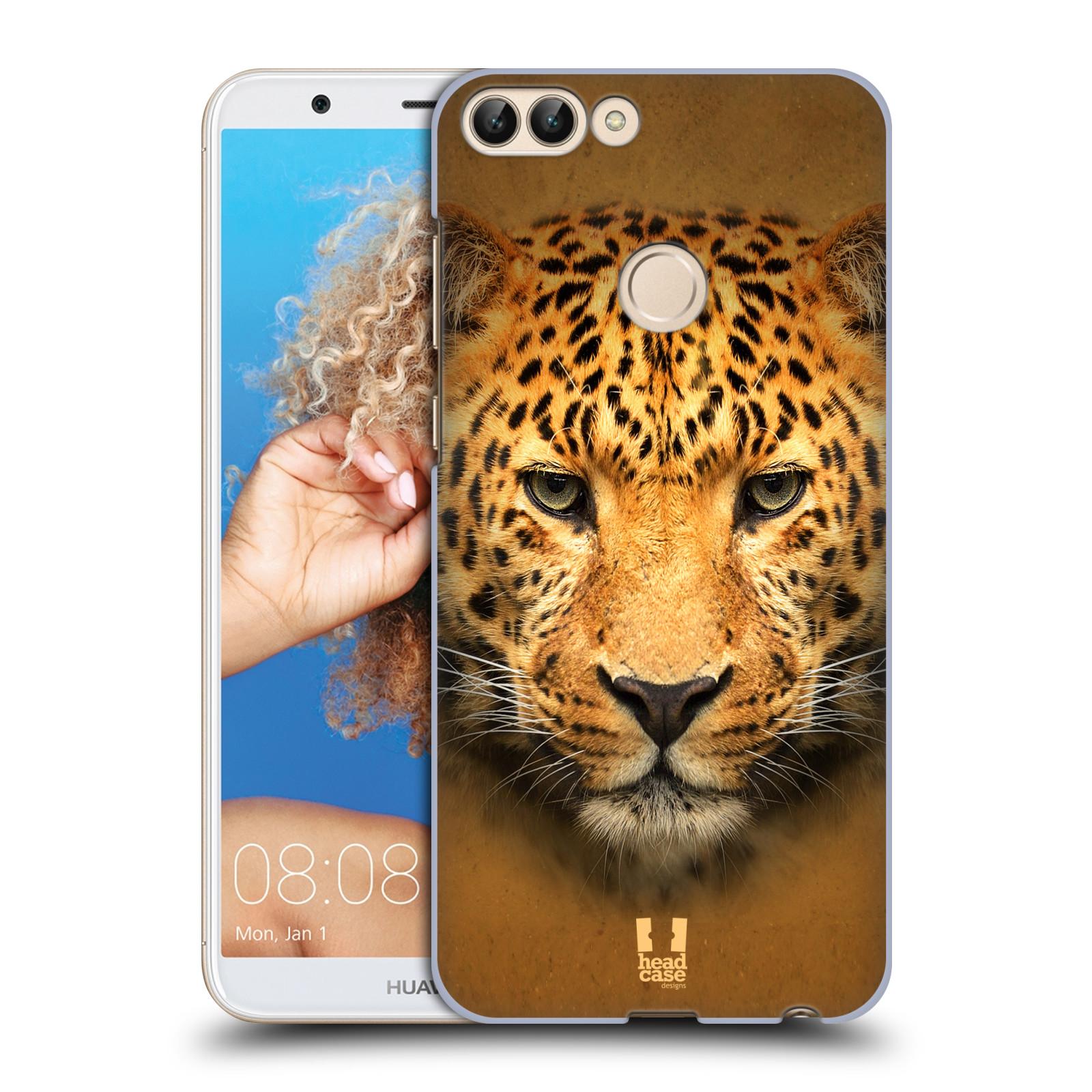 HEAD CASE plastový obal na mobil Huawei P Smart vzor Zvířecí tváře 2 leopard