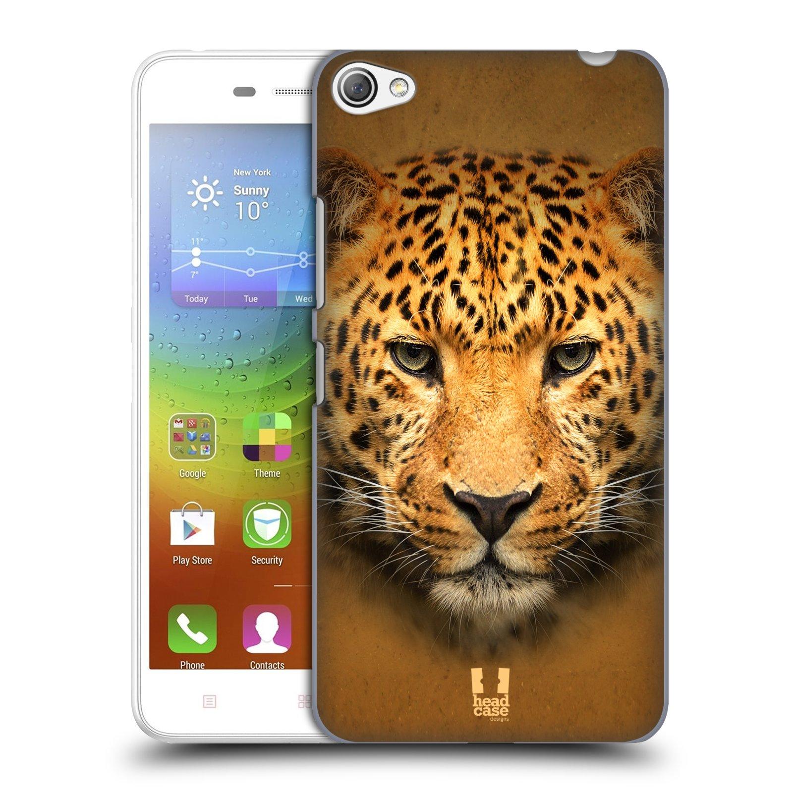 HEAD CASE pevný plastový obal na mobil LENOVO S60 / LENOVO S60 DUAL SIM vzor Zvířecí tváře 2 leopard
