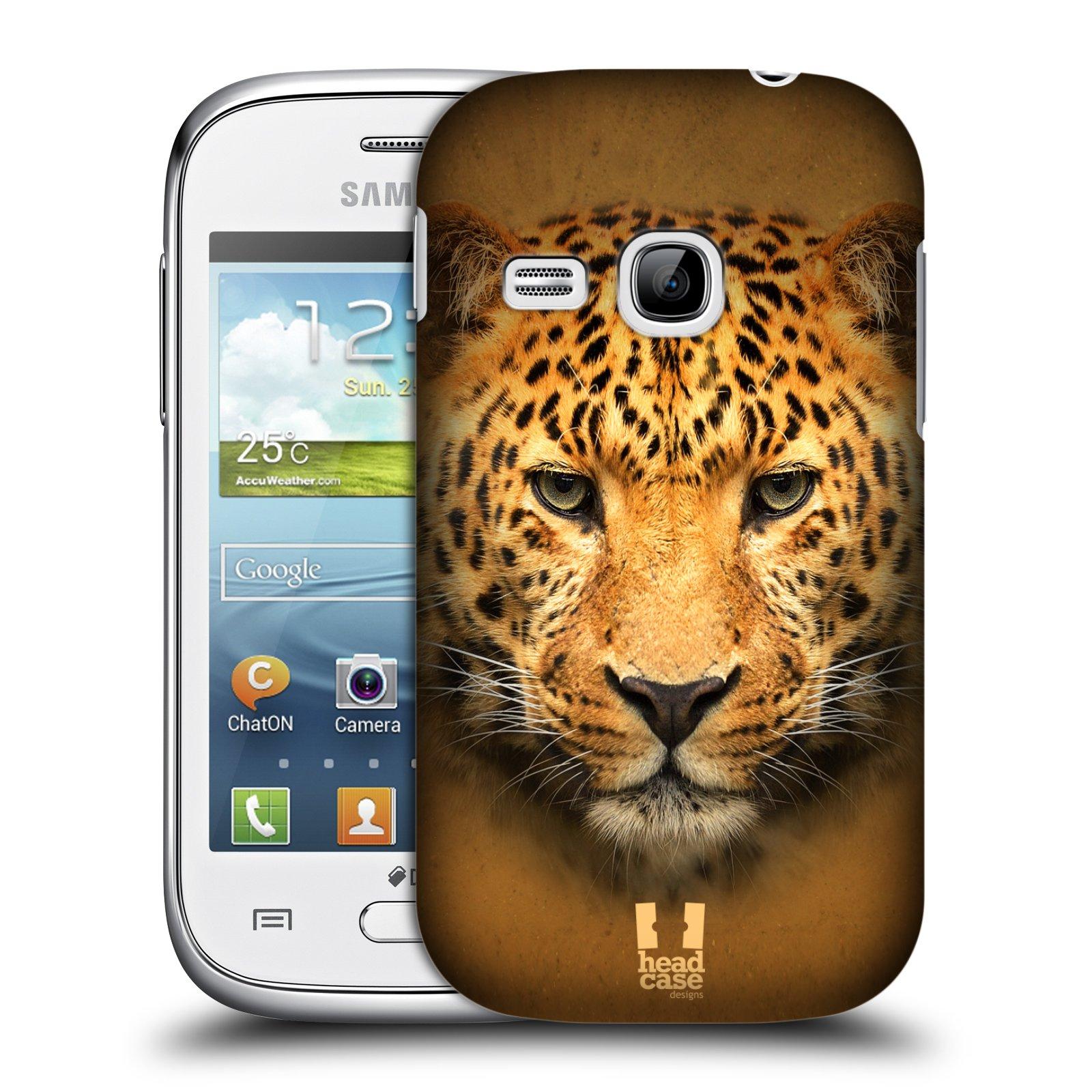 HEAD CASE plastový obal na mobil SAMSUNG Galaxy Young S6310 vzor Zvířecí tváře 2 leopard