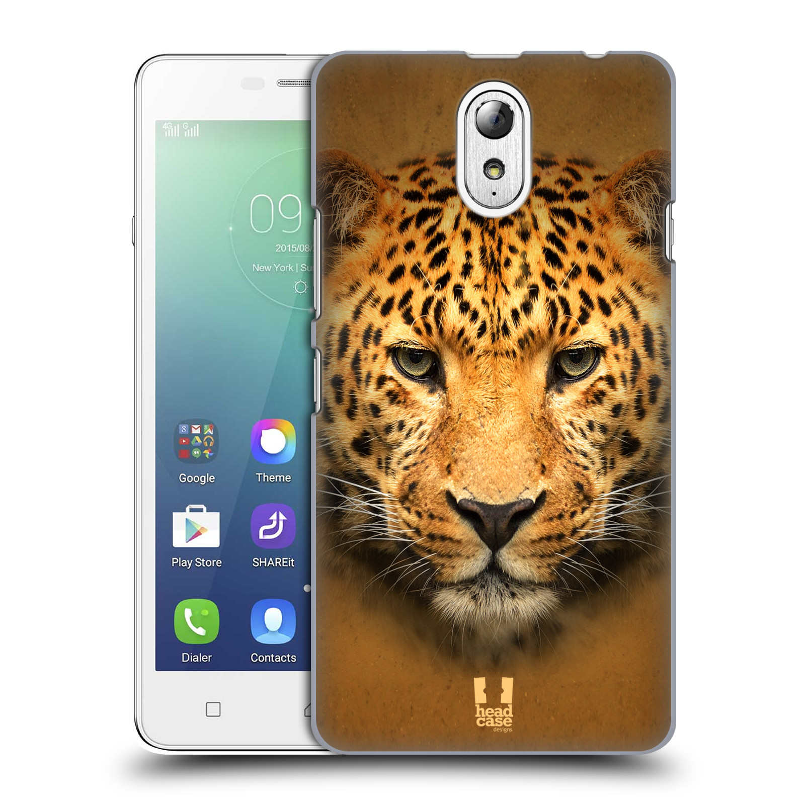 HEAD CASE pevný plastový obal na mobil LENOVO VIBE P1m / LENOVO VIBE p1m DUAL SIM vzor Zvířecí tváře 2 leopard