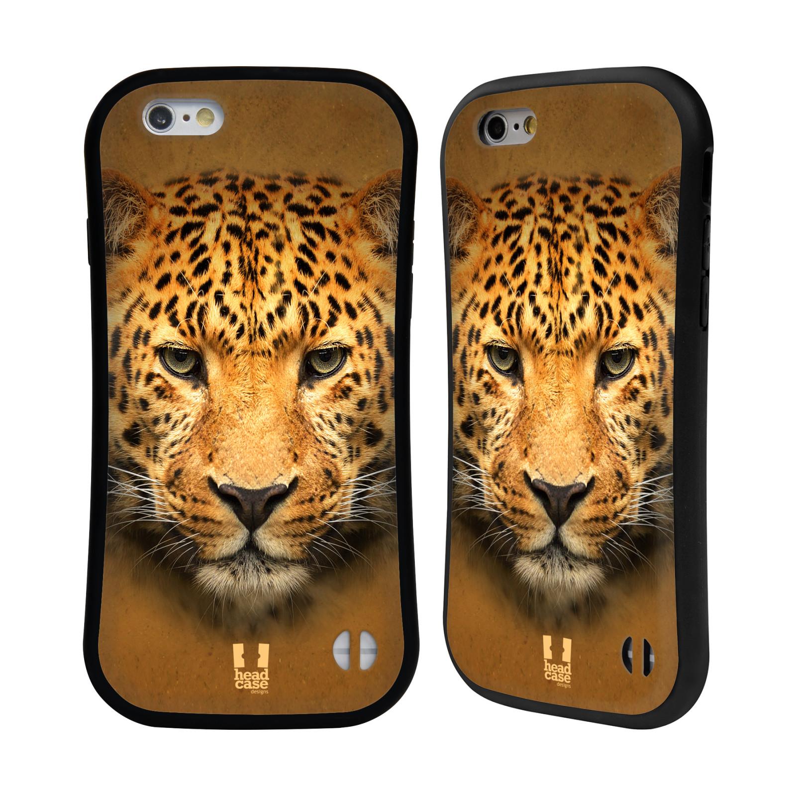 HEAD CASE silikon/plast odolný obal na mobil Apple Iphone 6/6S vzor Zvířecí tváře 2 leopard