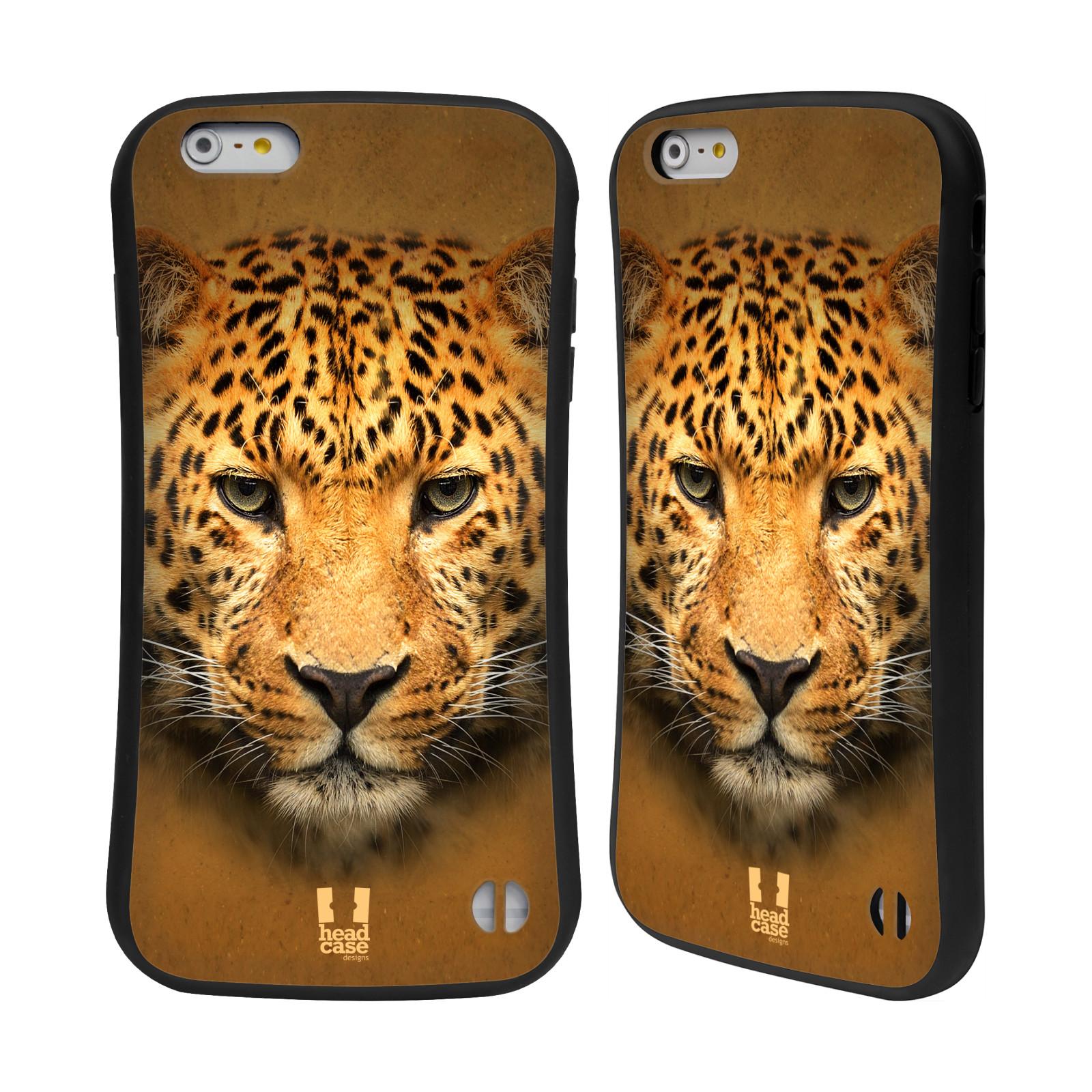 HEAD CASE silikon/plast odolný obal na mobil Apple Iphone 6 PLUS / 6S PLUS vzor Zvířecí tváře 2 leopard