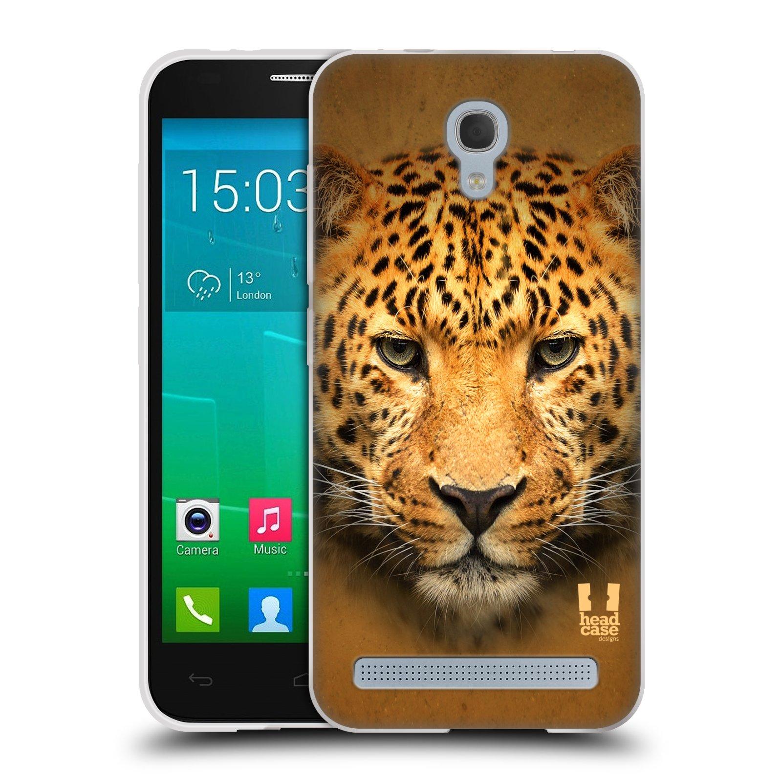 HEAD CASE silikonový obal na mobil Alcatel Idol 2 MINI S 6036Y vzor Zvířecí tváře 2 leopard