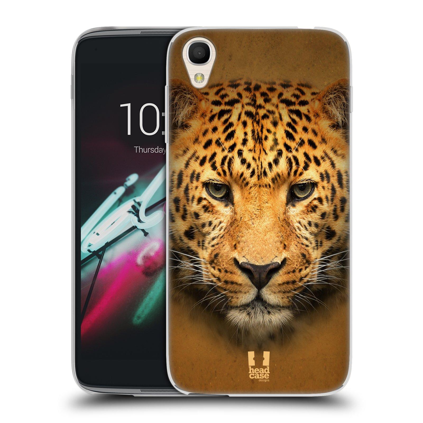 HEAD CASE silikonový obal na mobil Alcatel Idol 3 OT-6039Y (4.7) vzor Zvířecí tváře 2 leopard
