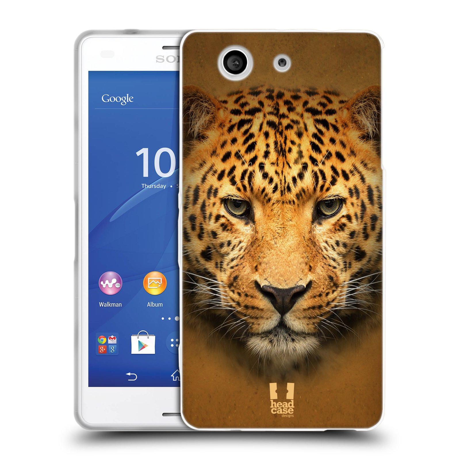 HEAD CASE silikonový obal na mobil Sony Xperia Z3 COMPACT (D5803) vzor Zvířecí tváře 2 leopard