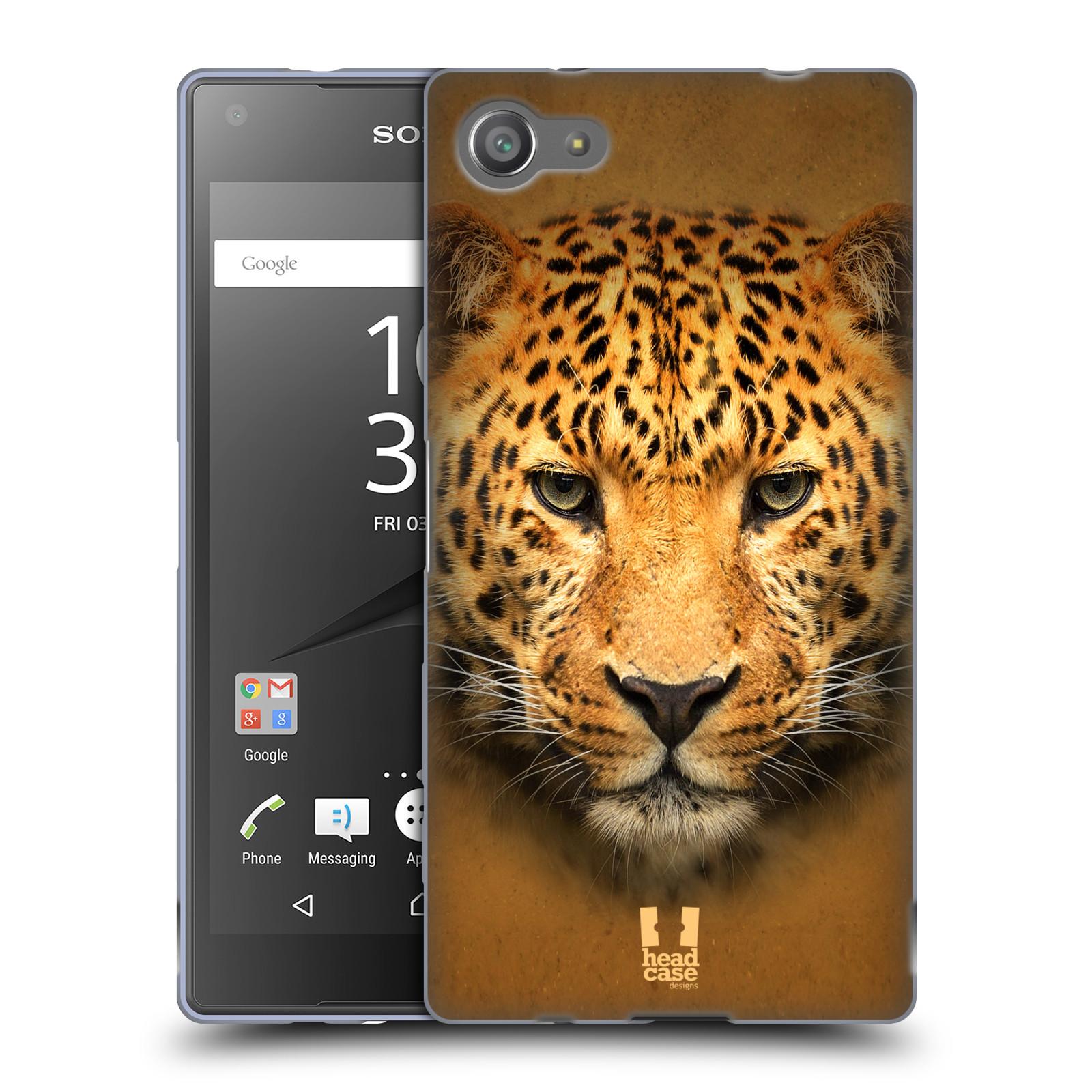 HEAD CASE silikonový obal na mobil Sony Xperia Z5 COMPACT vzor Zvířecí tváře 2 leopard