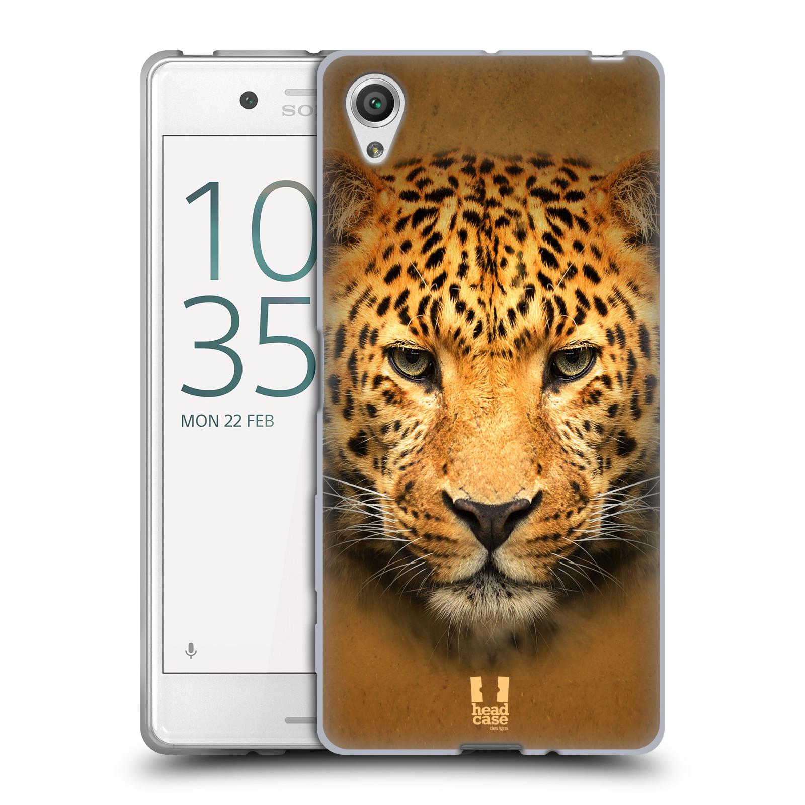 HEAD CASE silikonový obal na mobil Sony Xperia X / X DUAL vzor Zvířecí tváře 2 leopard