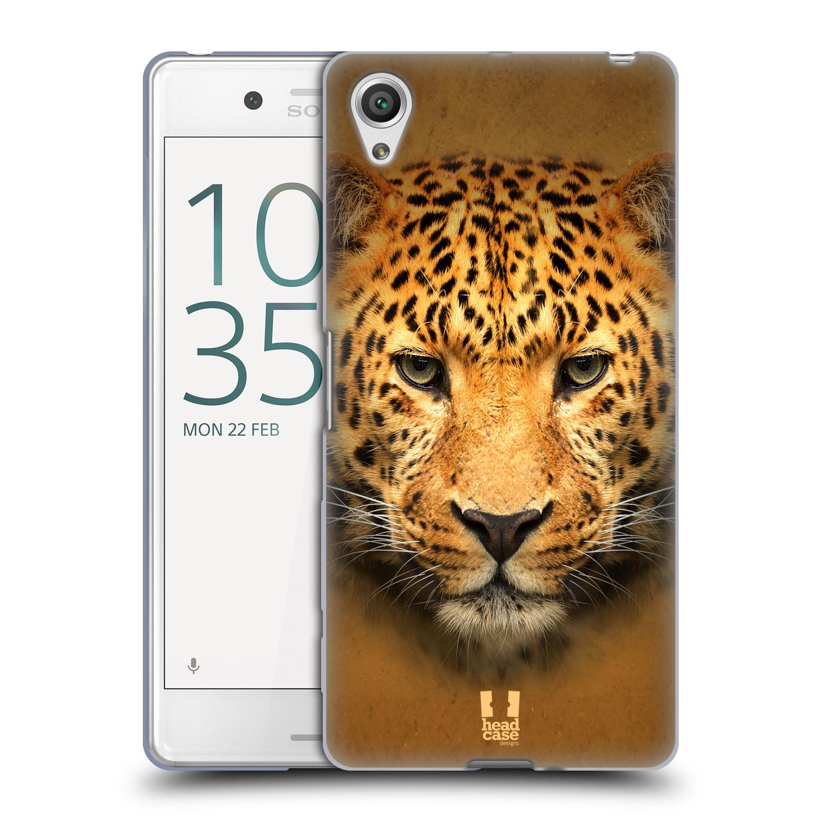 HEAD CASE silikonový obal na mobil Sony Xperia X PERFORMANCE (F8131, F8132) vzor Zvířecí tváře 2 leopard