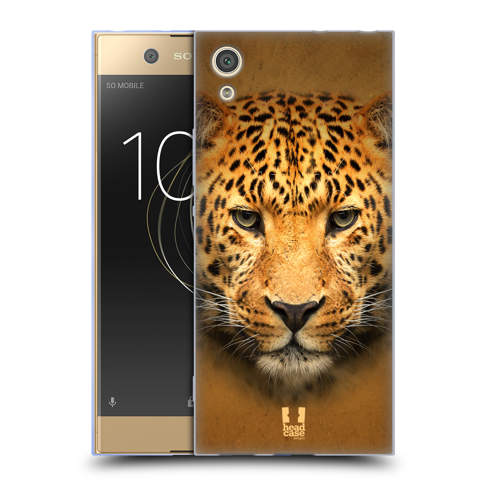 HEAD CASE silikonový obal na mobil Sony Xperia XA1 / XA1 DUAL SIM vzor Zvířecí tváře 2 leopard