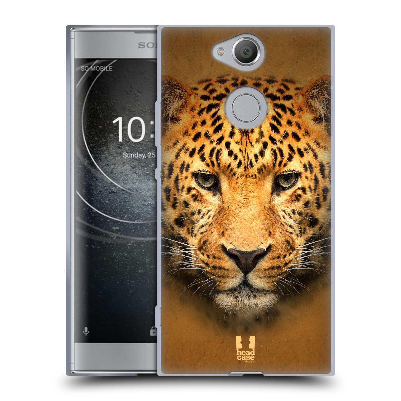 Pouzdro na mobil Sony Xperia XA2 (DUAL SIM, SINGLE SIM) vzor Zvířecí tváře 2 leopard