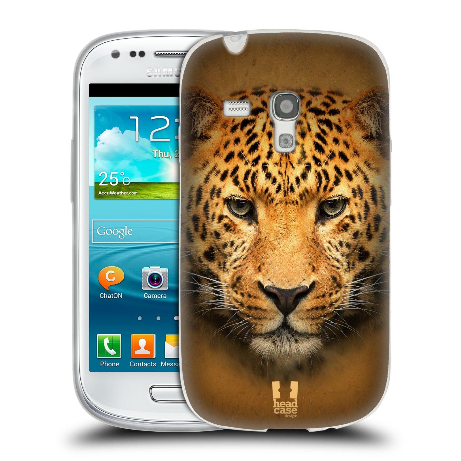 HEAD CASE silikonový obal na mobil Samsung Galaxy S3 MINI i8190 vzor Zvířecí tváře 2 leopard