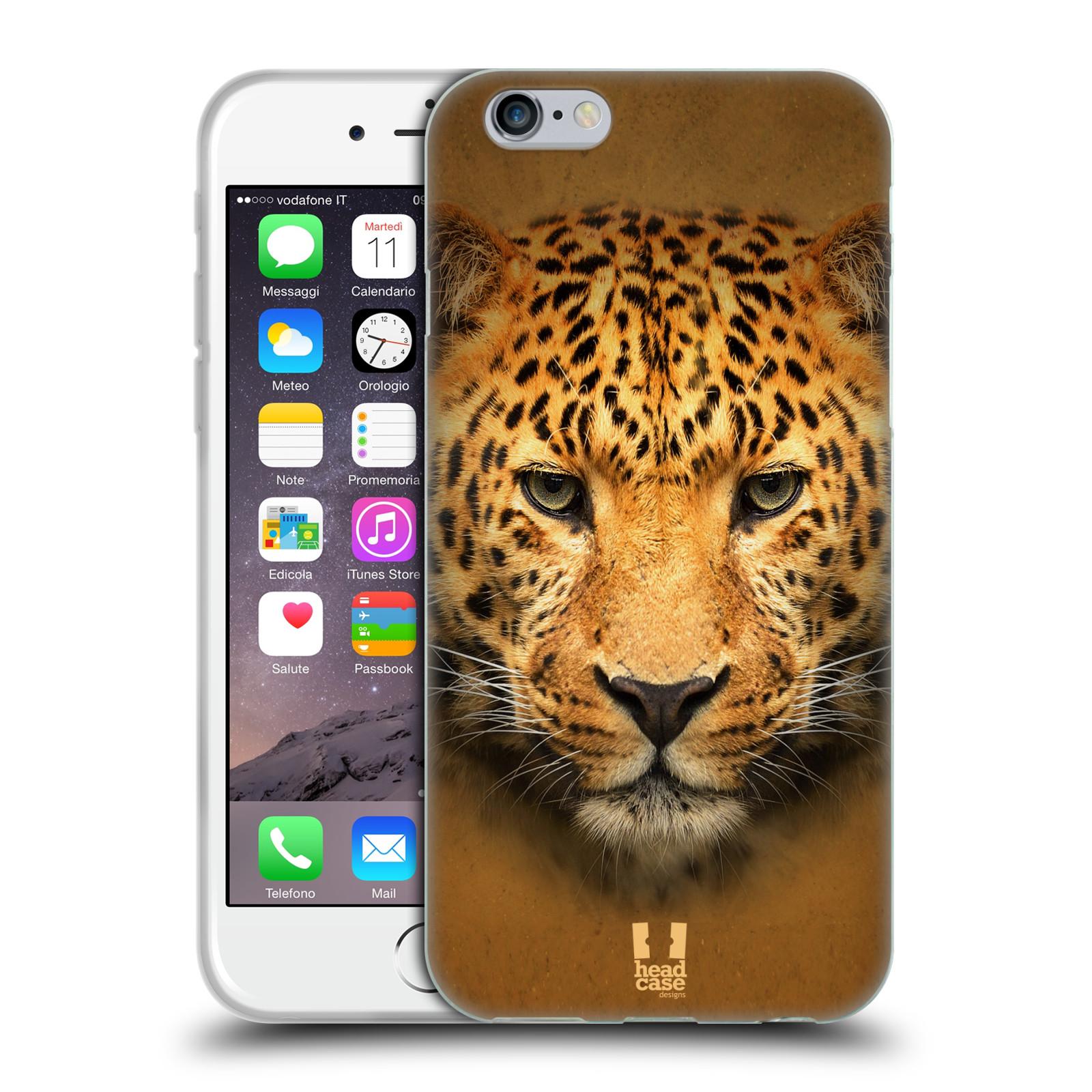 HEAD CASE silikonový obal na mobil Apple Iphone 6/6S vzor Zvířecí tváře 2 leopard