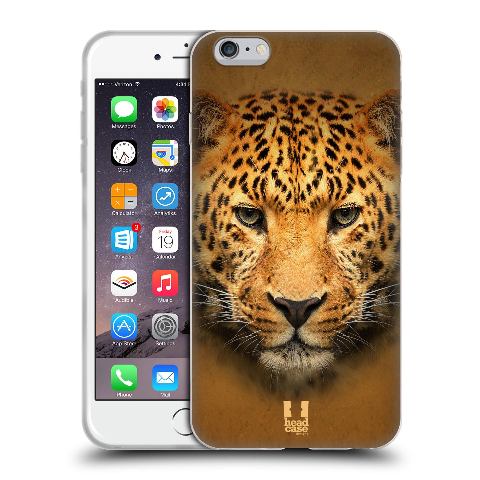 HEAD CASE silikonový obal na mobil Apple Iphone 6 PLUS/ 6S PLUS vzor Zvířecí tváře 2 leopard
