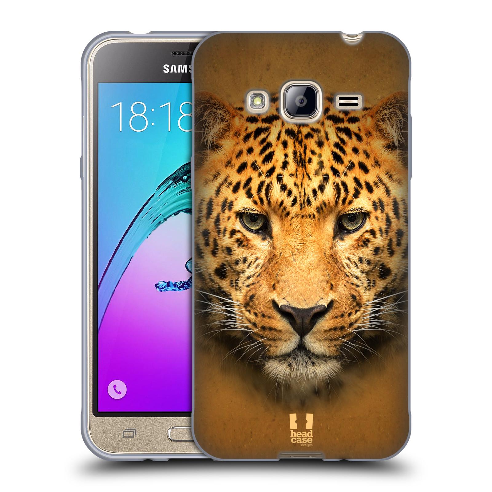 HEAD CASE silikonový obal na mobil Samsung Galaxy J3, J3 2016 vzor Zvířecí tváře 2 leopard