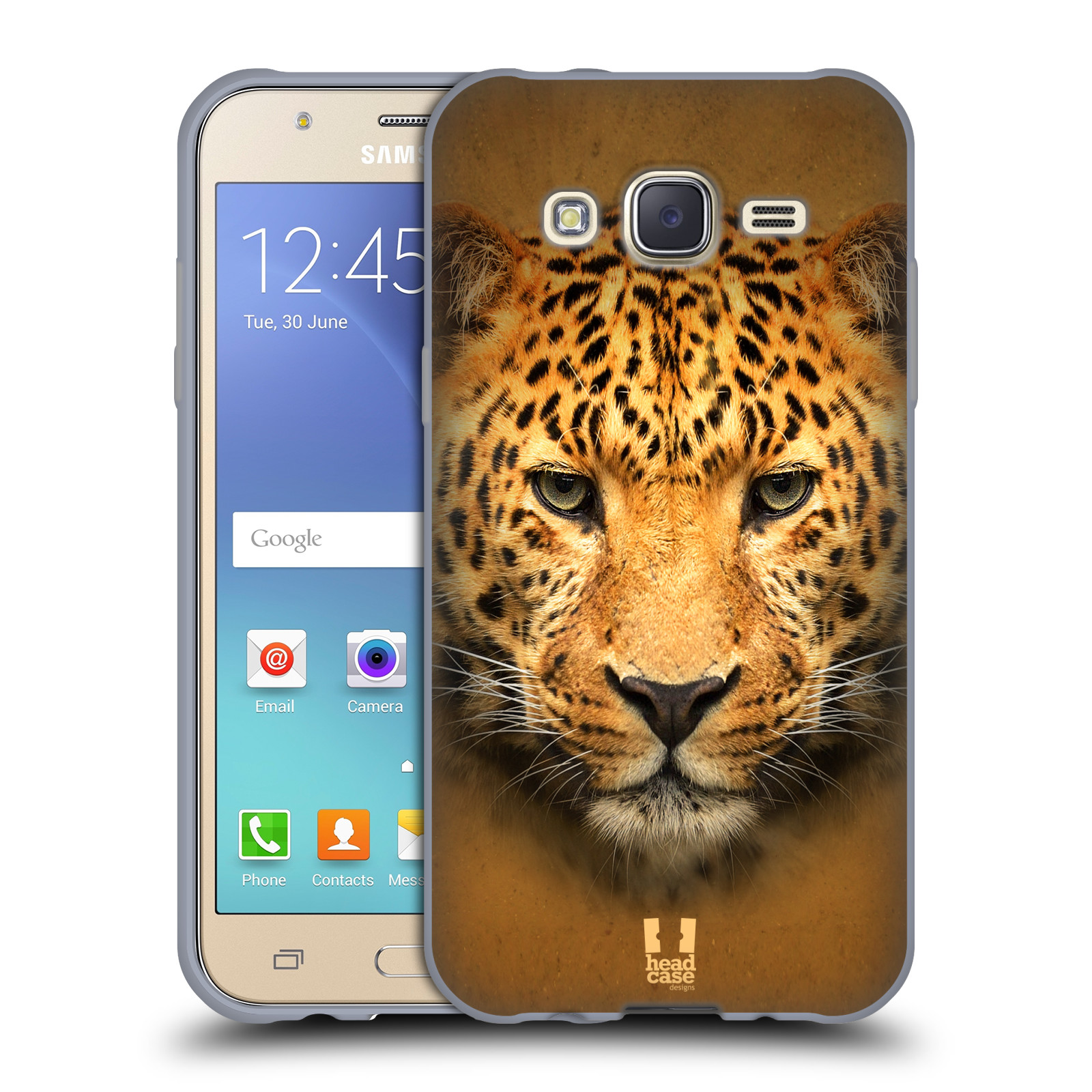 HEAD CASE silikonový obal na mobil Samsung Galaxy J5, J500, (J5 DUOS) vzor Zvířecí tváře 2 leopard