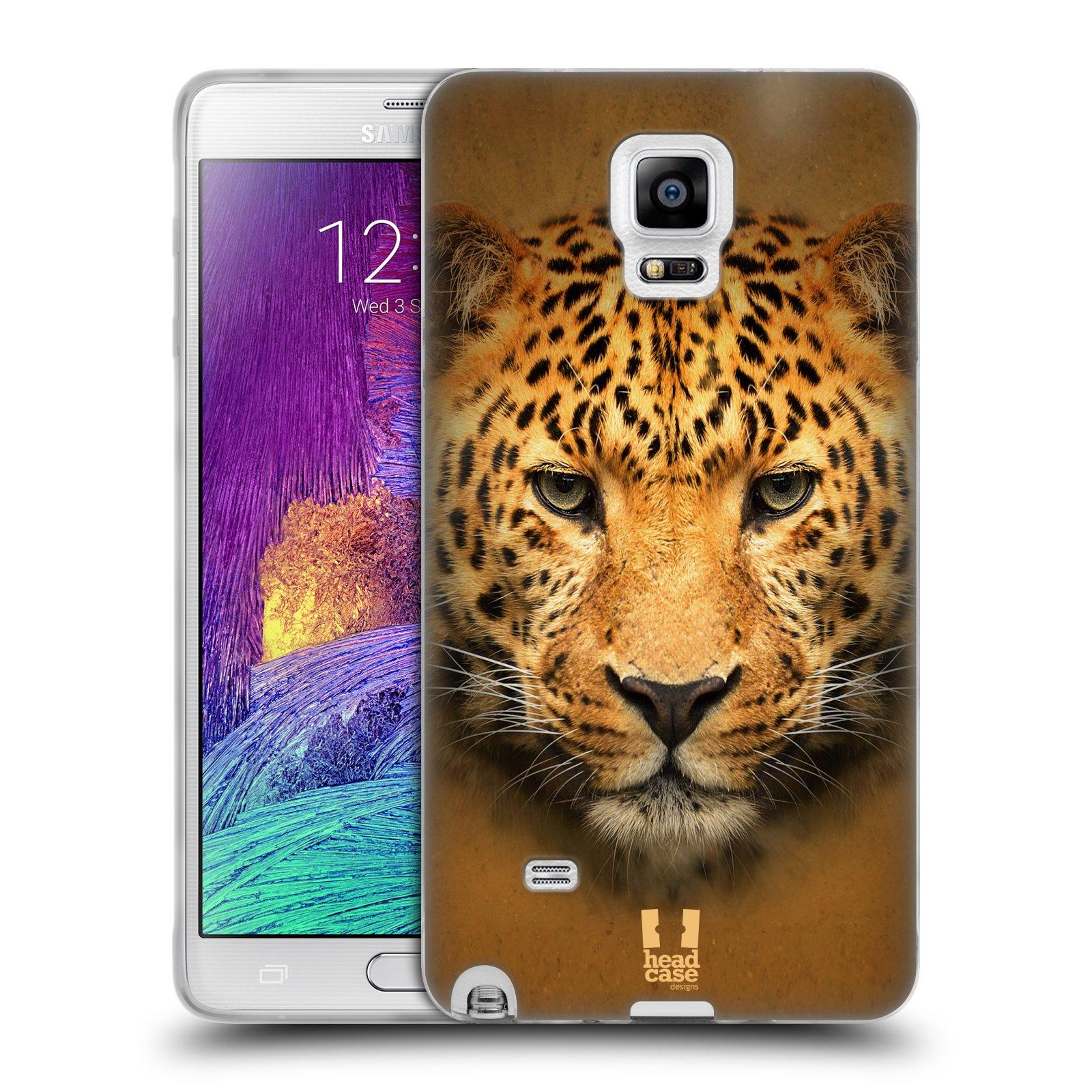 HEAD CASE silikonový obal na mobil Samsung Galaxy Note 4 (N910) vzor Zvířecí tváře 2 leopard