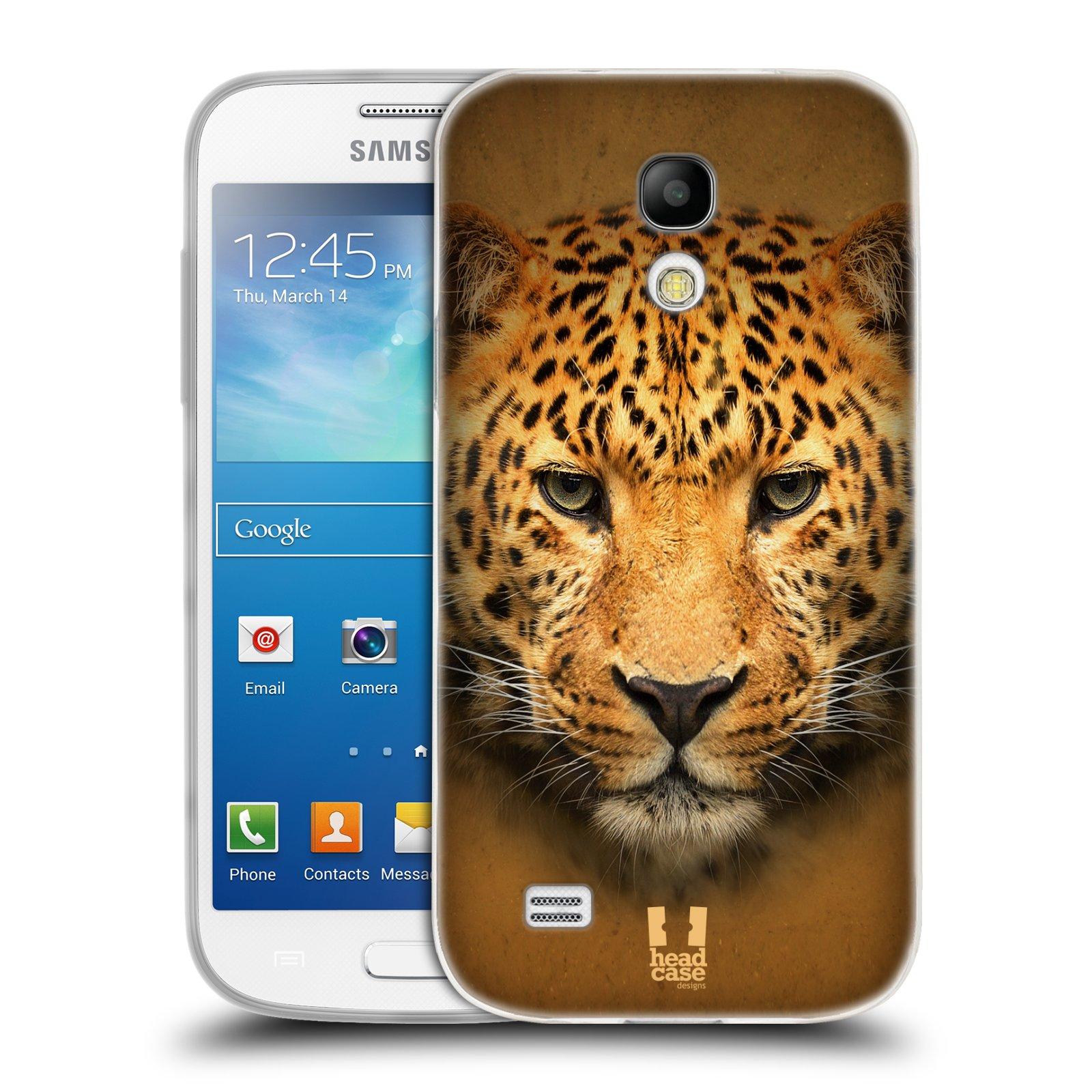 HEAD CASE silikonový obal na mobil Samsung Galaxy S4 MINI vzor Zvířecí tváře 2 leopard