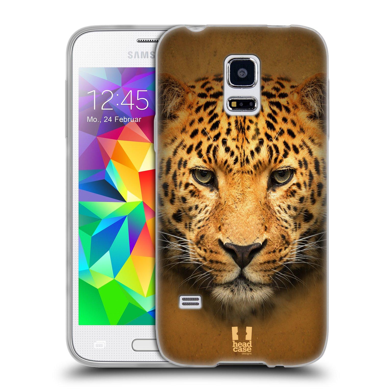 HEAD CASE silikonový obal na mobil Samsung Galaxy S5 MINI vzor Zvířecí tváře 2 leopard