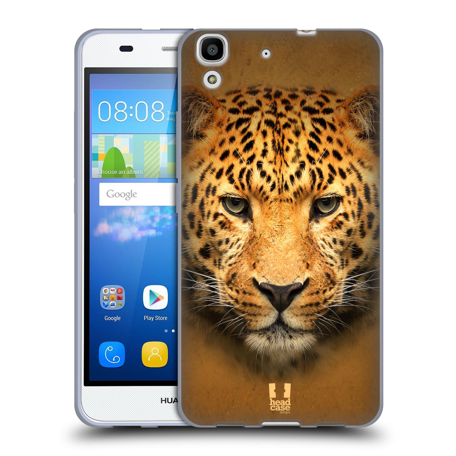 HEAD CASE silikonový obal na mobil HUAWEI Y6 vzor Zvířecí tváře 2 leopard