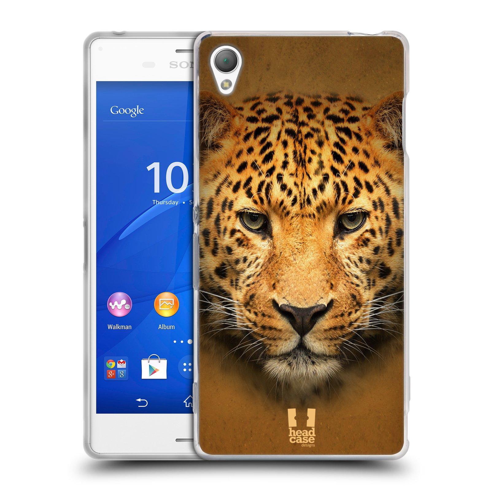 HEAD CASE silikonový obal na mobil Sony Xperia Z3 vzor Zvířecí tváře 2 leopard