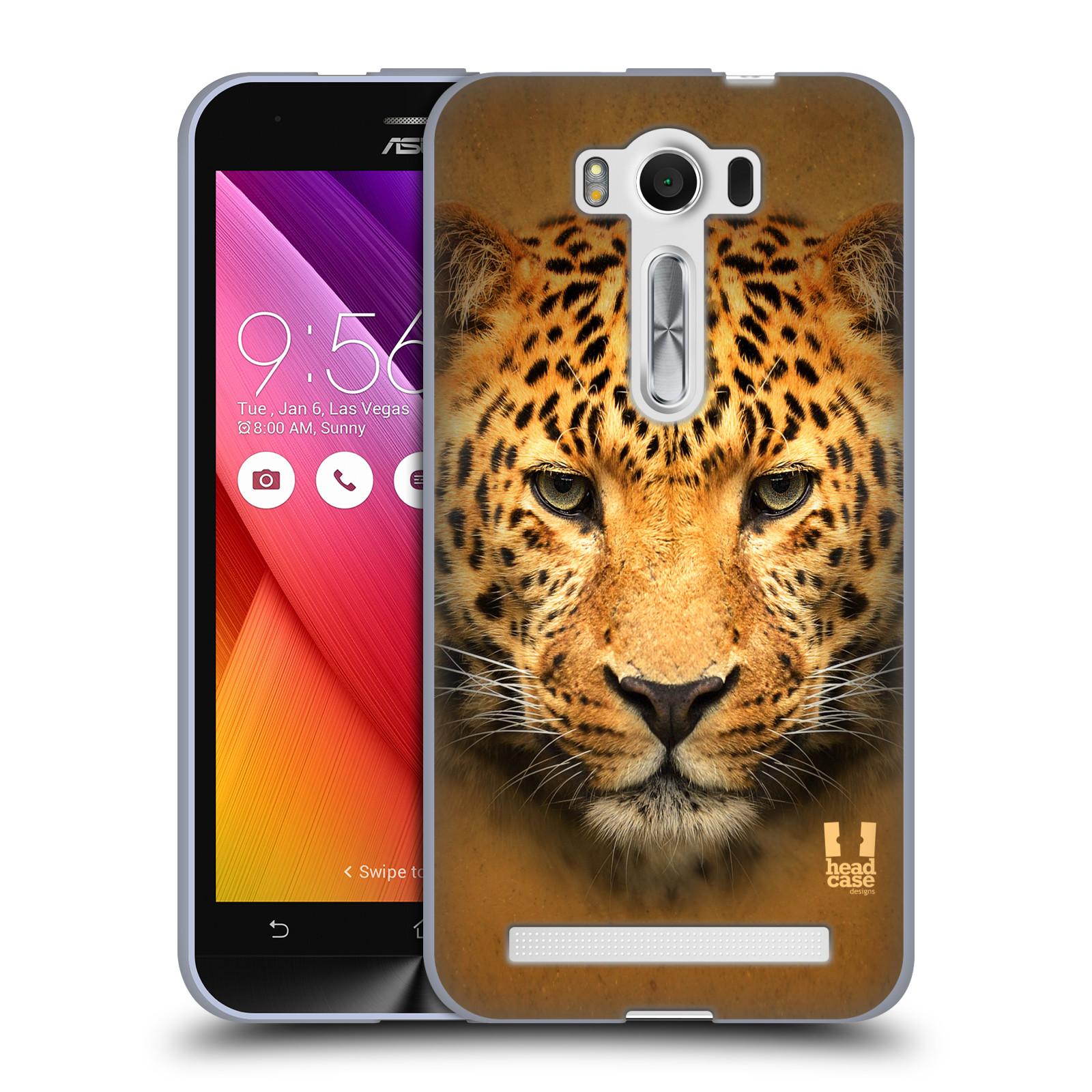 """HEAD CASE silikonový obal na mobil Asus Zenfone 2 LASER (ZE500KL s 5"""" displejem) vzor Zvířecí tváře 2 leopard"""
